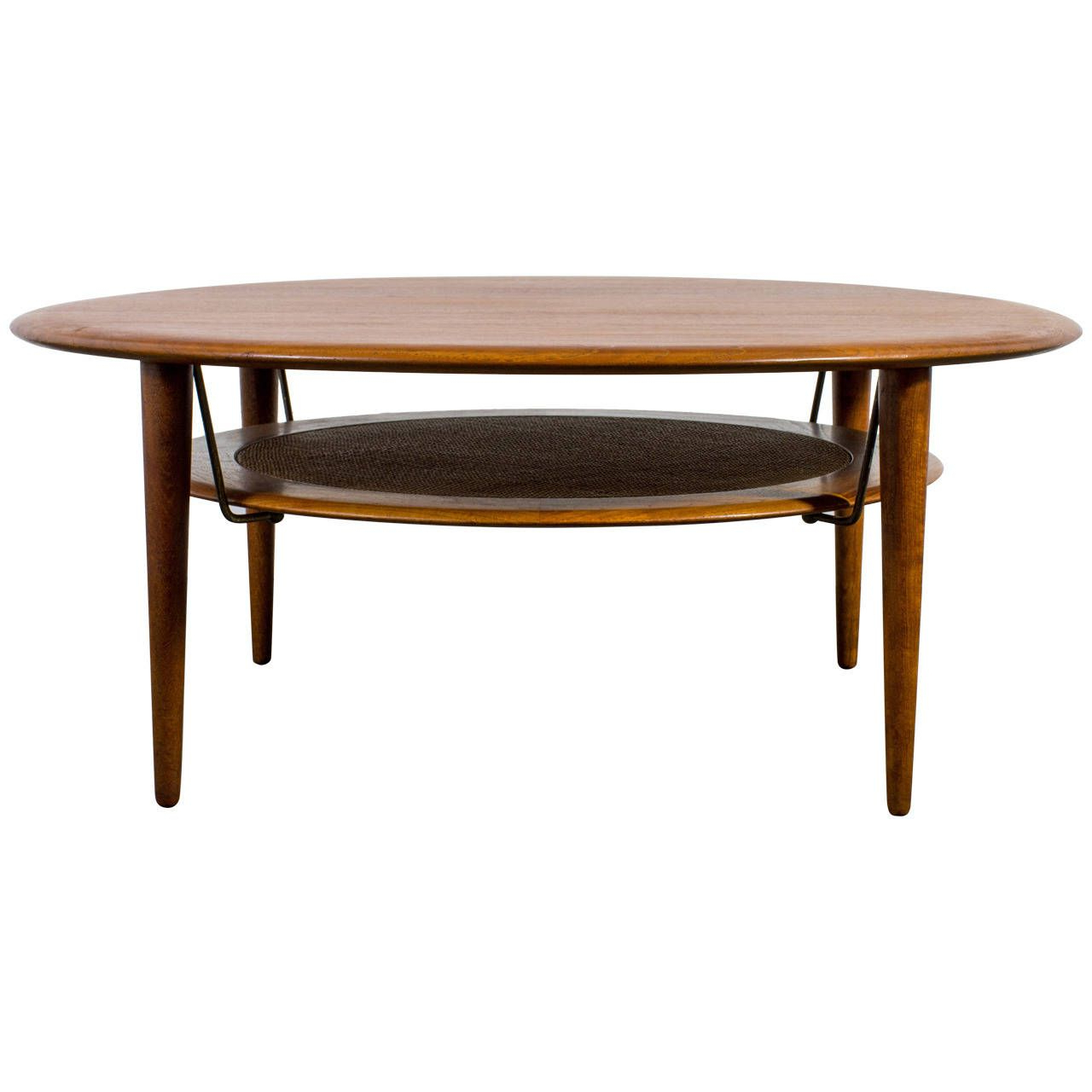 Round Teak Coffee Tables With Regard To Current Danish Modern Round Teak Coffee Tablepeter Hvidt And Orla (View 18 of 20)