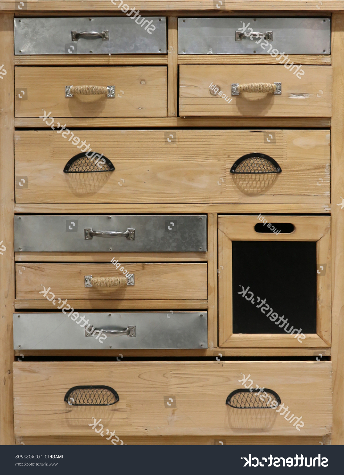 Rustic Wooden Chest Drawers Some Metal Stock Photo (Edit Now Inside 2018 Bale Rustic Grey Sideboards (Gallery 19 of 20)
