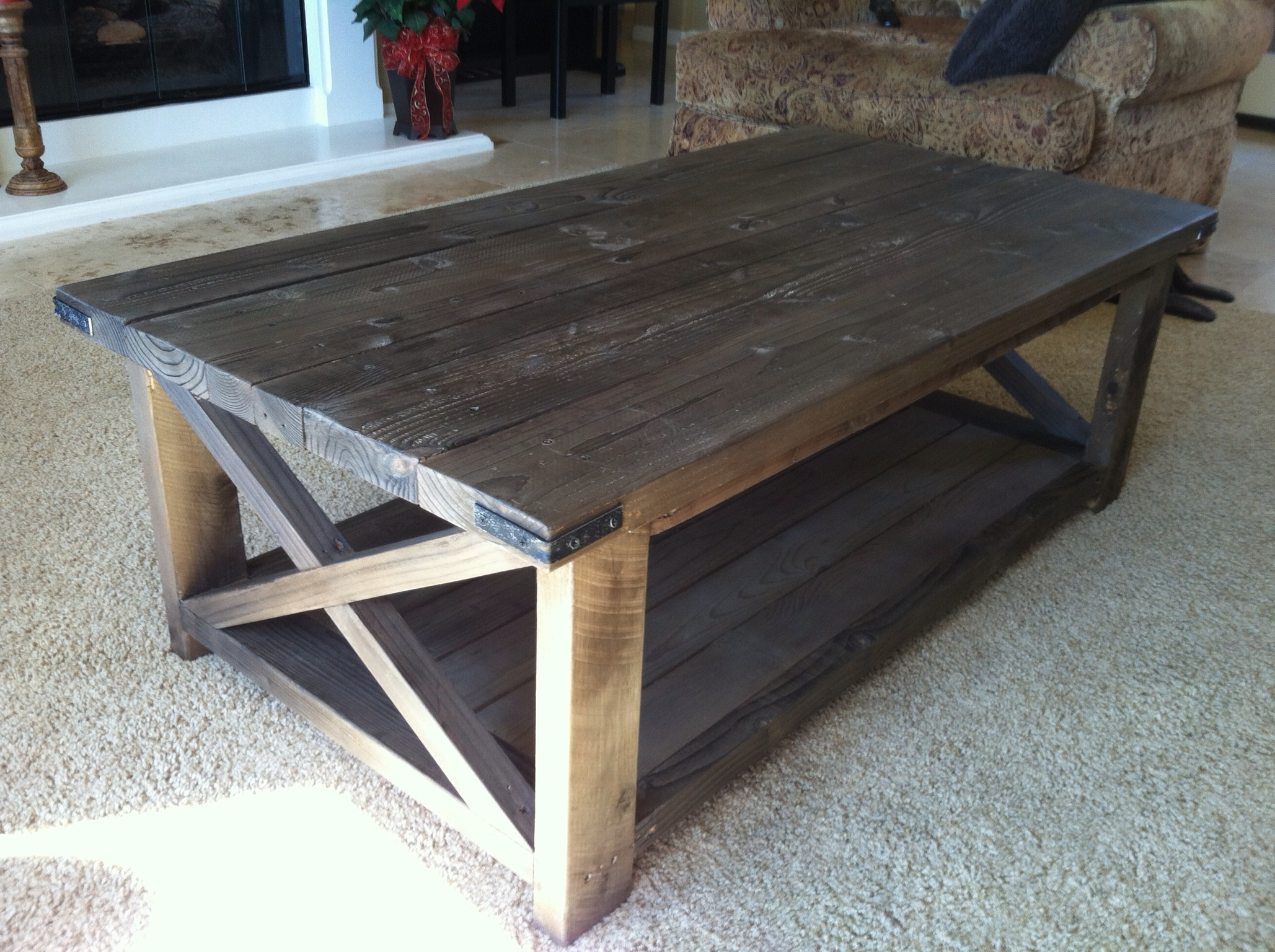 Rustic X Coffee Table – Diy Projects Intended For Natural Pine Coffee Tables (View 4 of 20)