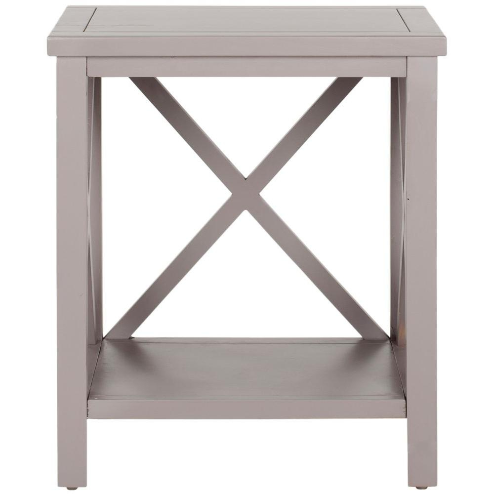 Safavieh Candence Gray End Table Amh6523c – The Home Depot With Regard To 2018 Inverted Triangle Coffee Tables (View 9 of 20)