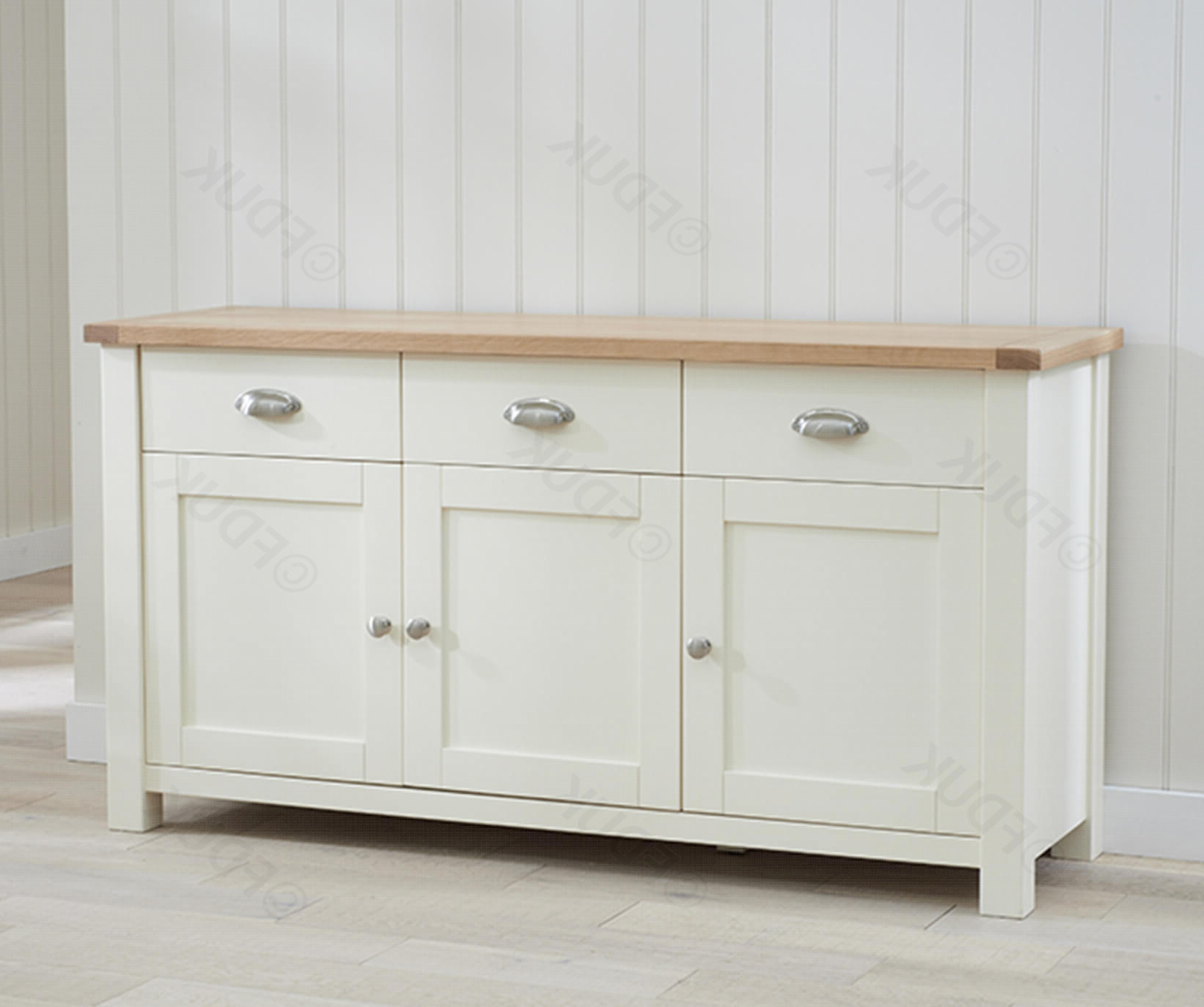 Sandringham Oak And Cream 3 Door 3 Drawer (Gallery 10 of 20)