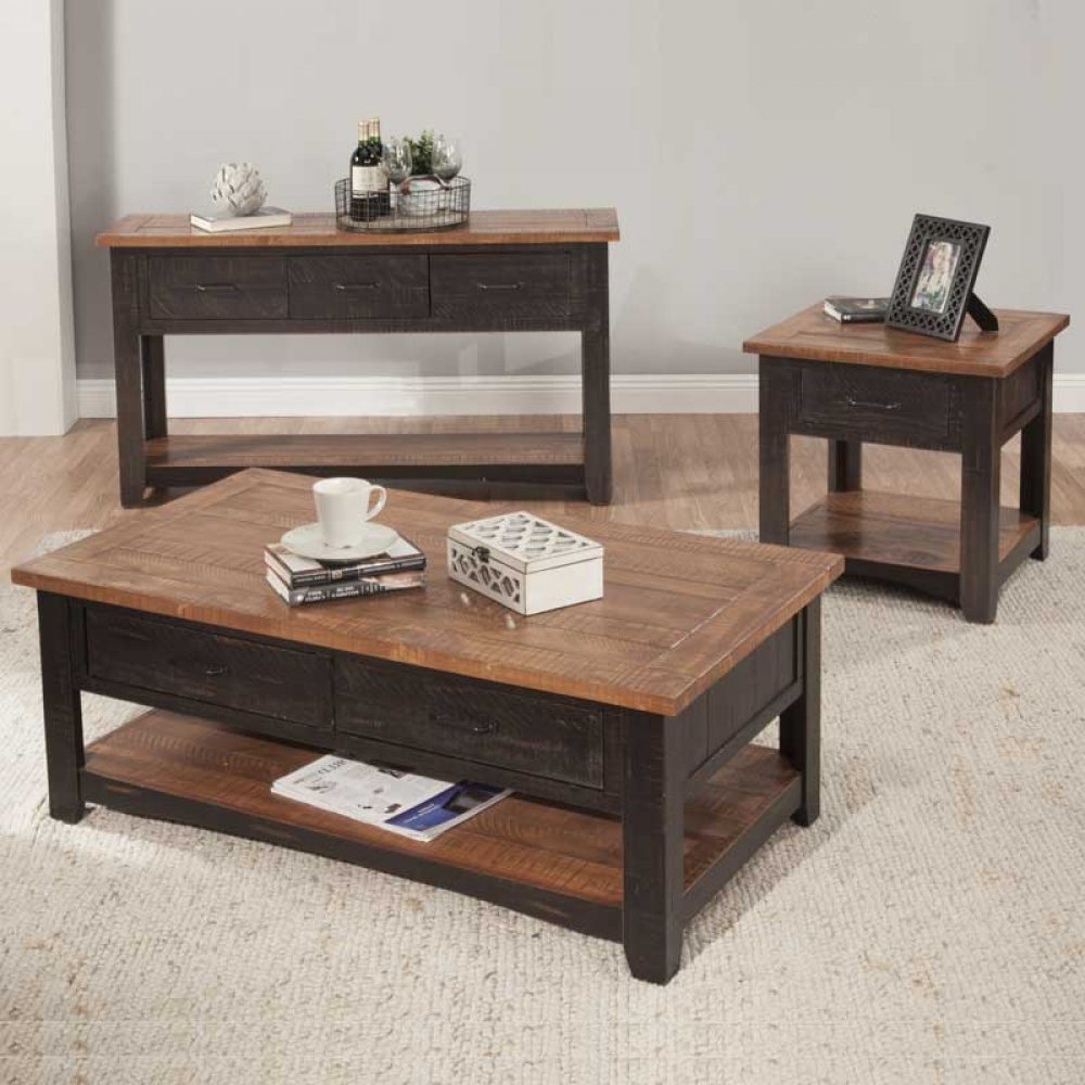 Santa Fe Coffee Tables Throughout Most Recently Released Santa Fe Collection – Discount Furniture (View 10 of 20)
