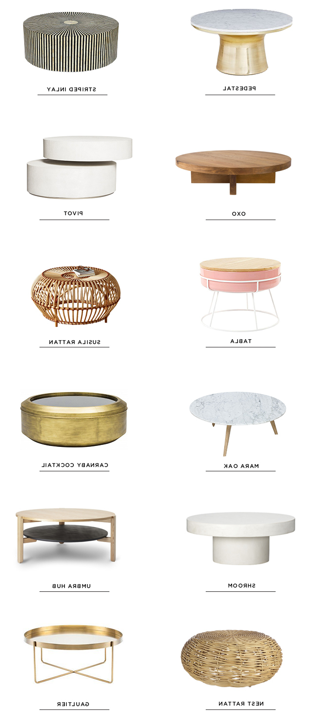 Sarah Sherman Samuel:12 Round Coffee Tables (View 10 of 20)