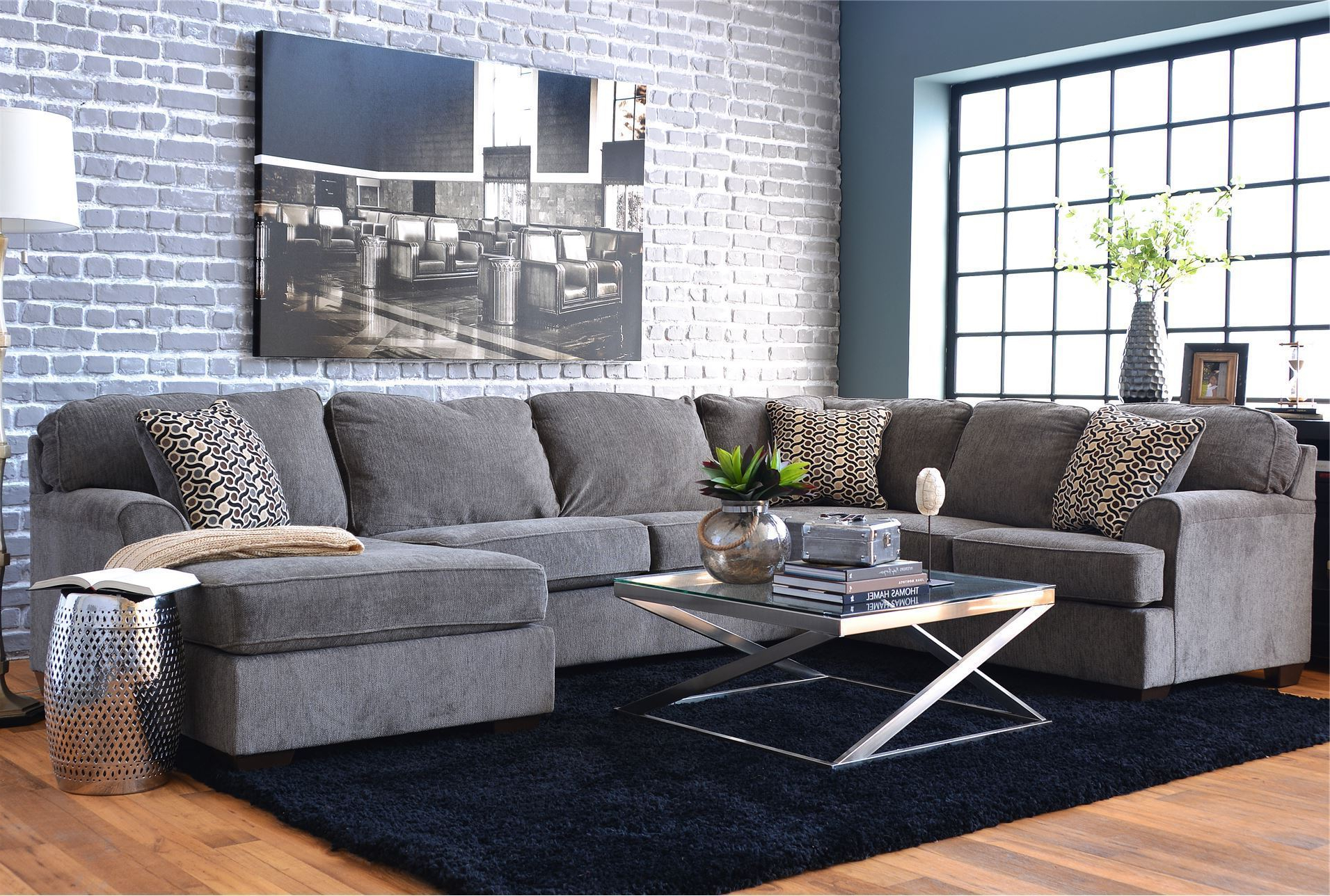 Sectional Sofa 3 Piece With Chaise Amazon Com Case Andrea Milano For Recent Evan 2 Piece Sectionals With Raf Chaise (View 15 of 20)