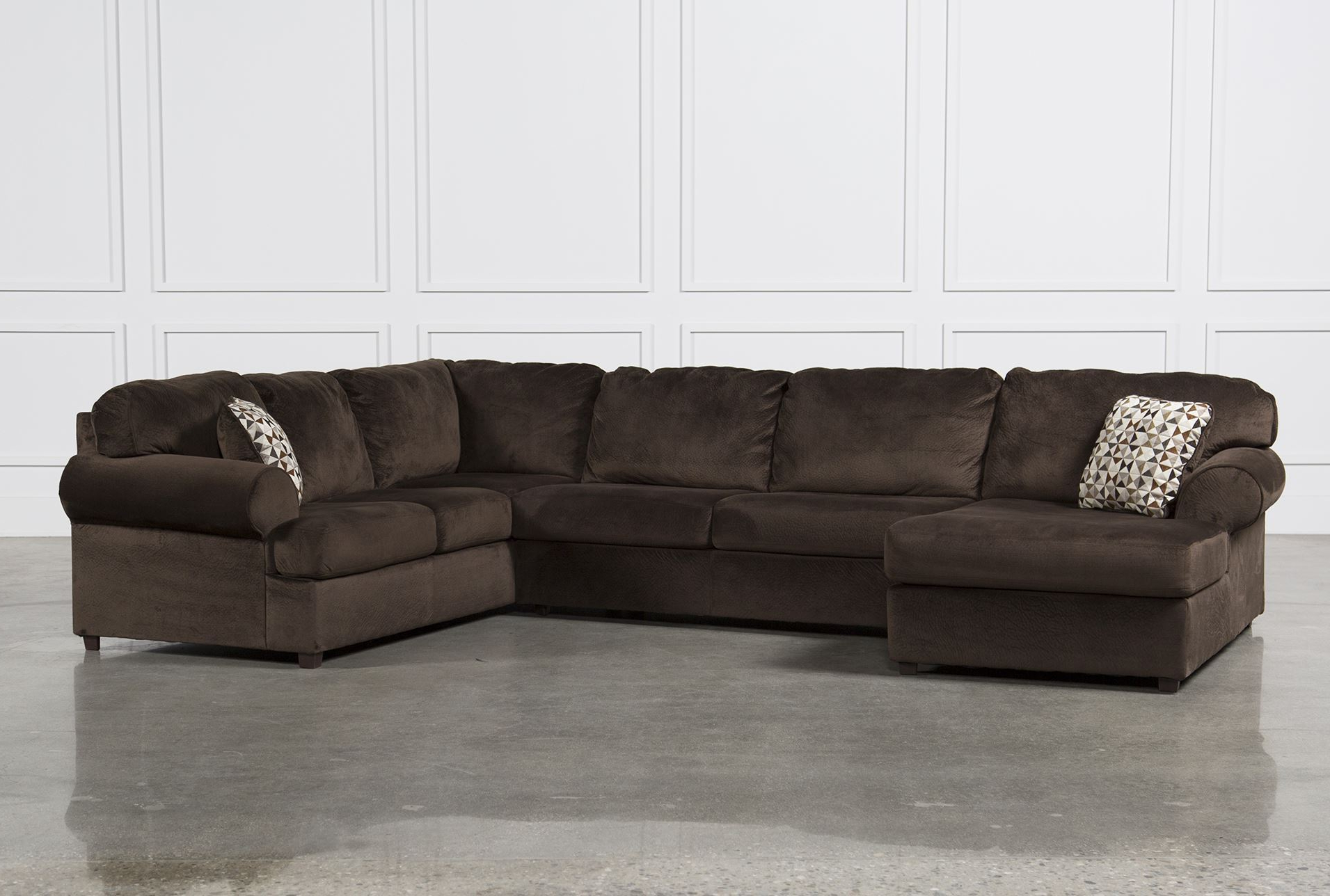 Sectional Sofas Leather And Couches Ideas With Living Spaces Couch In Trendy Norfolk Grey 3 Piece Sectionals With Raf Chaise (View 15 of 20)