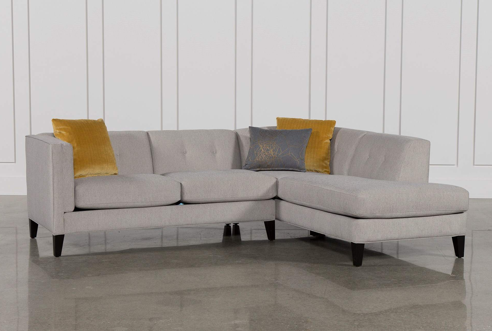 Shapely Small Sectional Sofas Living Spaces Couch Locks Display Throughout Preferred Adeline 3 Piece Sectionals (View 20 of 20)