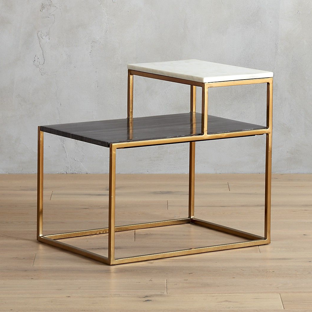 Shop 2 Tone Black And White Side Table (View 14 of 20)