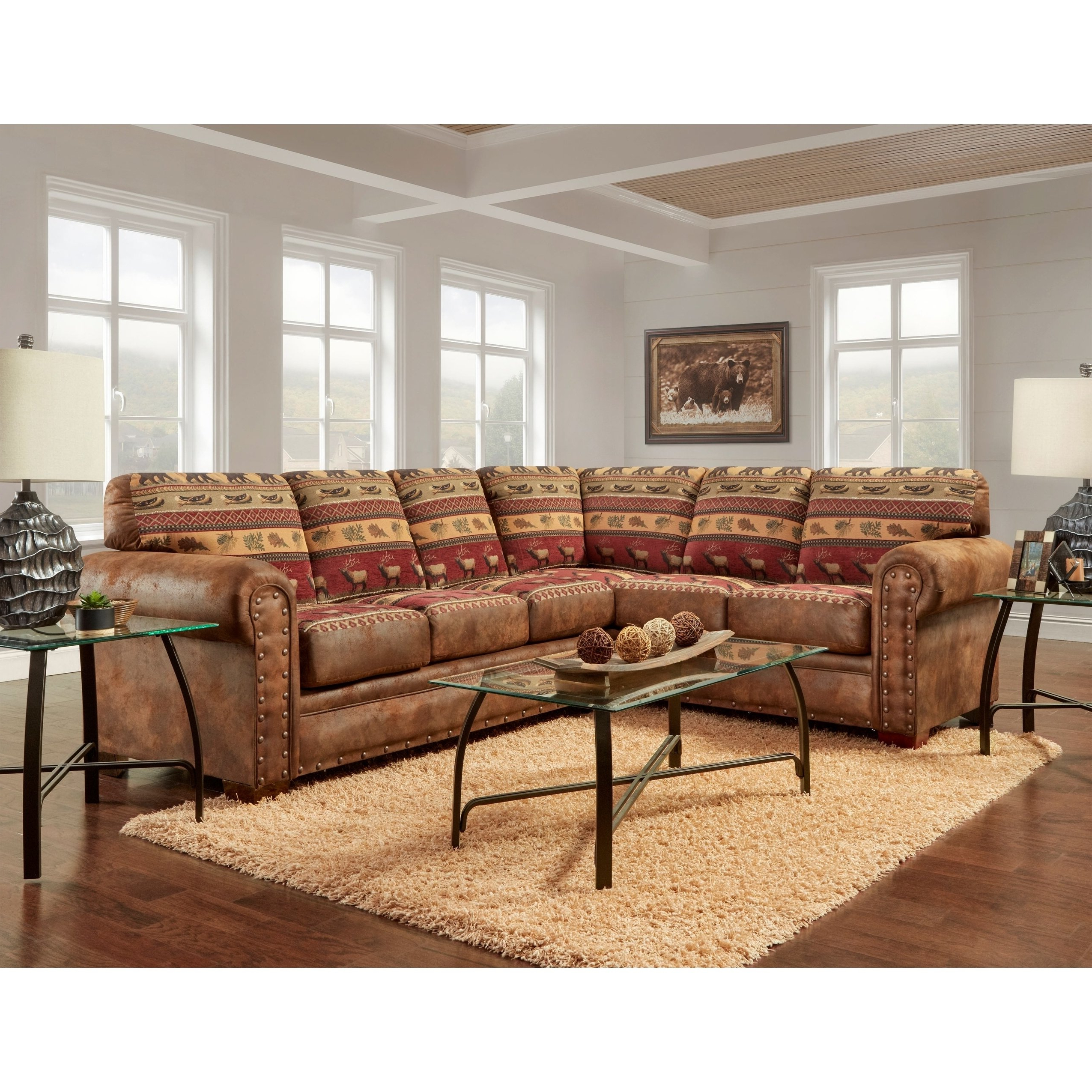 Shop American Furniture Classics Model B1650K Sierra Lodge Two Piece With Regard To Favorite Sierra Foam Ii 3 Piece Sectionals (View 13 of 20)