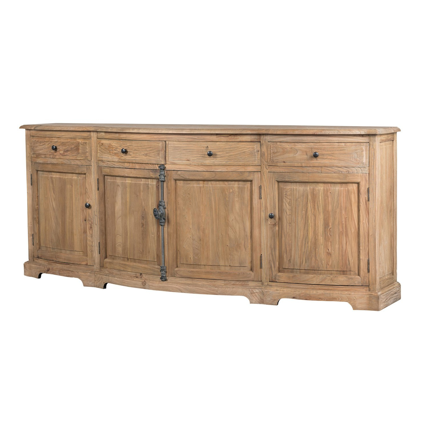 Shop Benjamin Reclaimed Wood Natural 87 Inch Sideboardkosas Home With Fashionable Natural Oak Wood 78 Inch Sideboards (View 17 of 20)