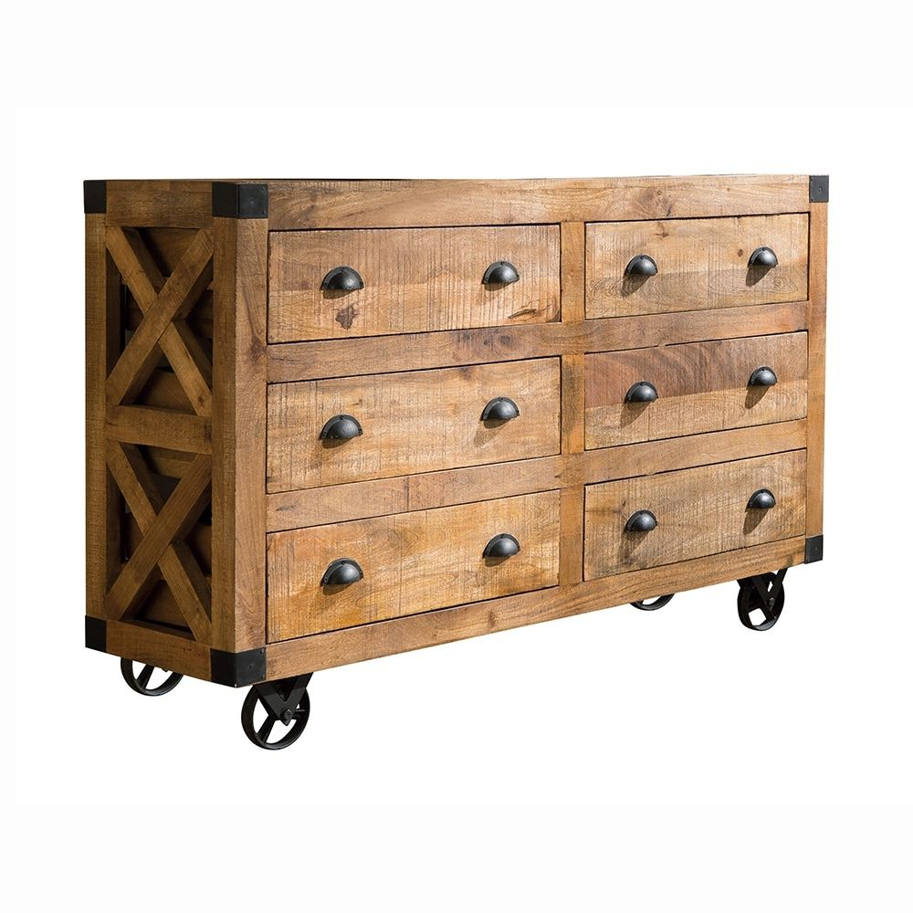 Shop Coaster Fine Furniture 950602 Donny Osmond Home Antonelli 6 Regarding Popular 2 Door/2 Drawer Cast Jali Sideboards (View 16 of 20)