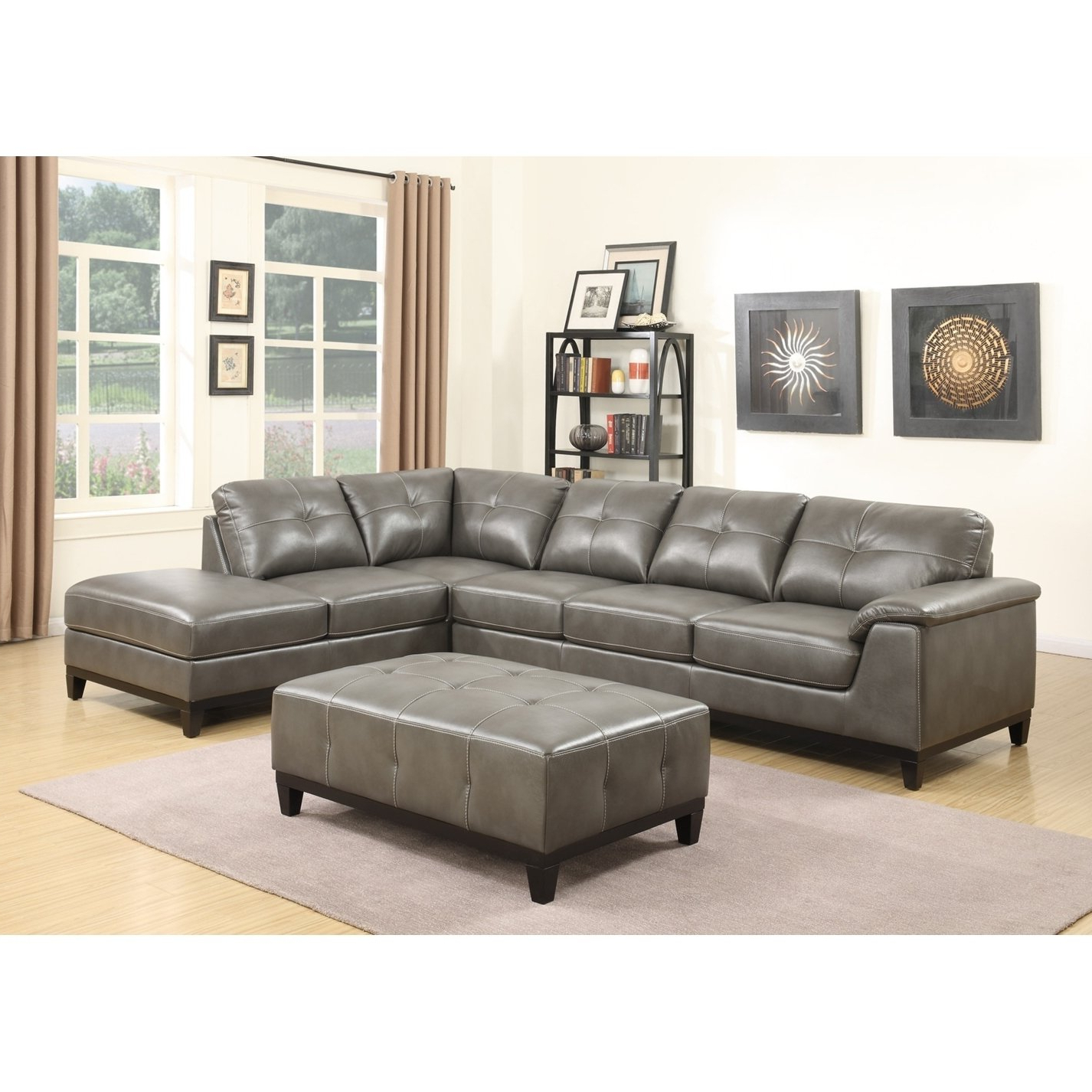 Shop Copper Grove Kinglake 2 Piece Sectional And Ottoman – On Sale Inside Fashionable Haven 3 Piece Sectionals (View 8 of 20)