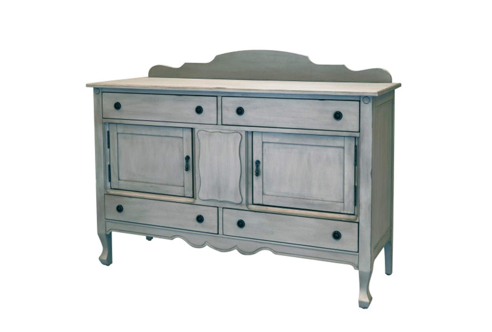 Shop For Magnolia Home Silhouette Dove Grey Sideboardjoanna Throughout Well Known Jaxon Grey Sideboards (View 19 of 20)