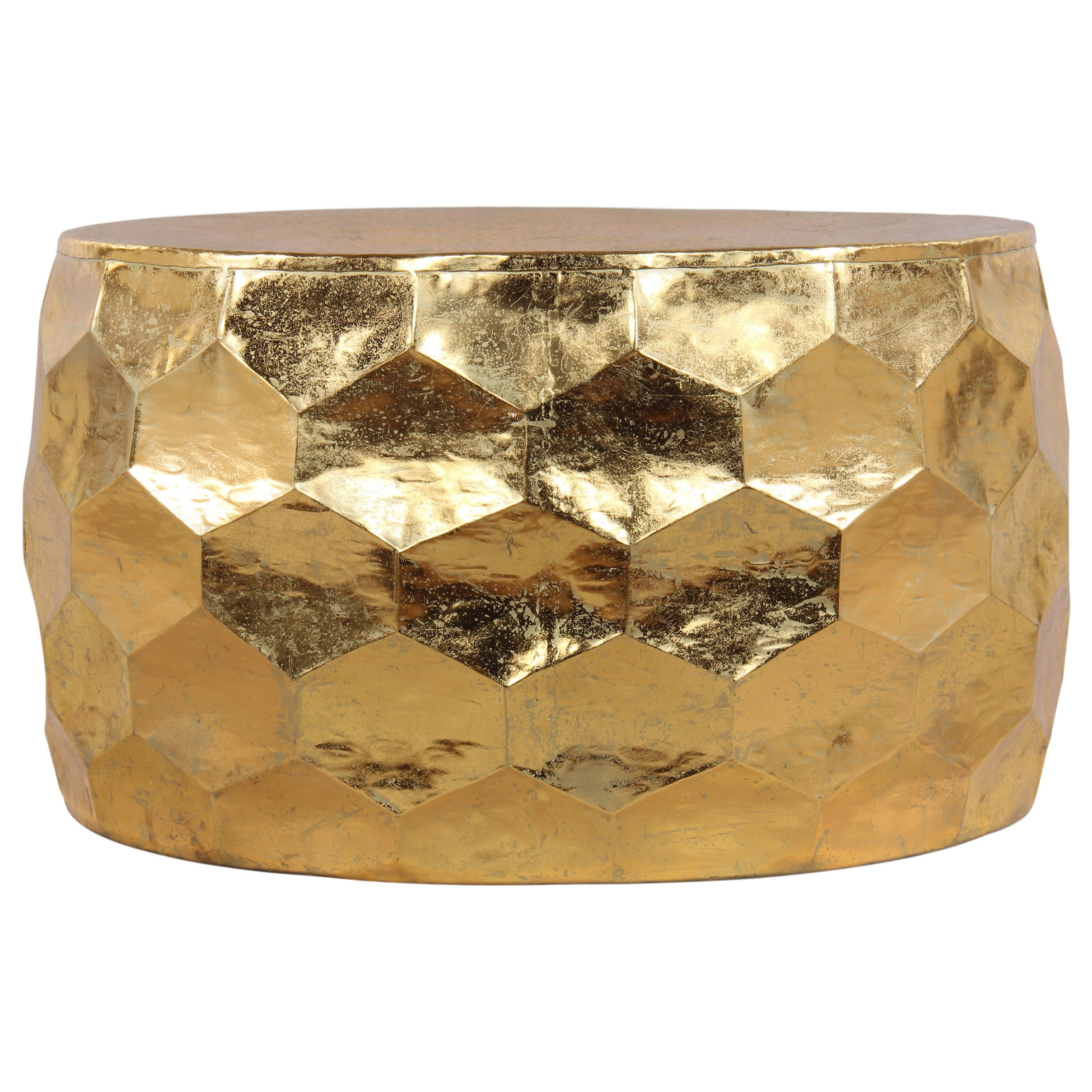 Shop Gemoratic Hammered Gold Leaf Metal Coffee Table – Free Shipping Pertaining To Latest Cuff Hammered Gold Coffee Tables (View 3 of 20)
