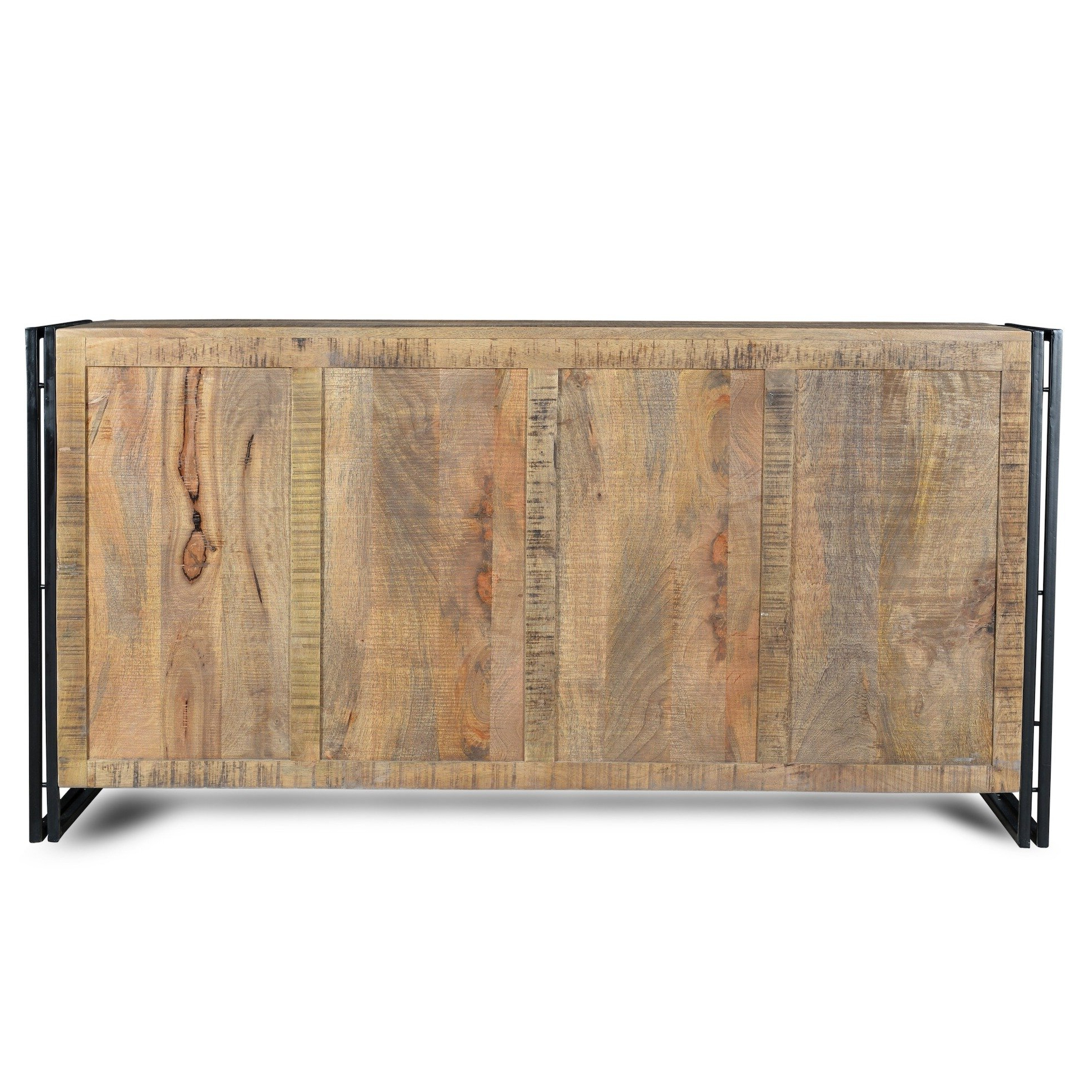 Shop Handmade Industrial Reclaimed Wood And Iron Sideboard (India With Trendy Reclaimed Elm 71 Inch Sideboards (View 18 of 20)