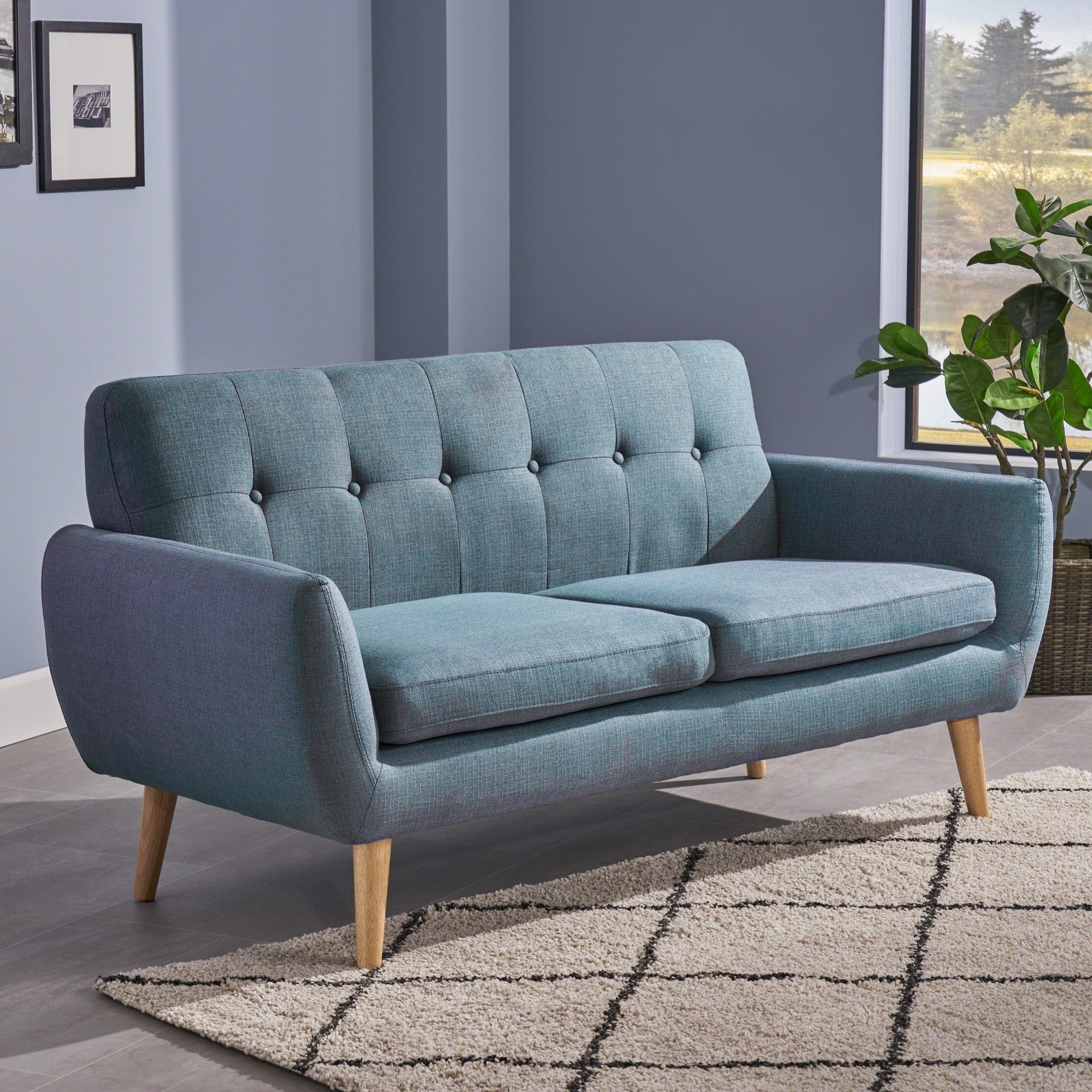 Shop Josephine Mid Century Modern Petite Fabric Sofachristopher For Most Popular Josephine 2 Piece Sectionals With Raf Sofa (View 13 of 20)