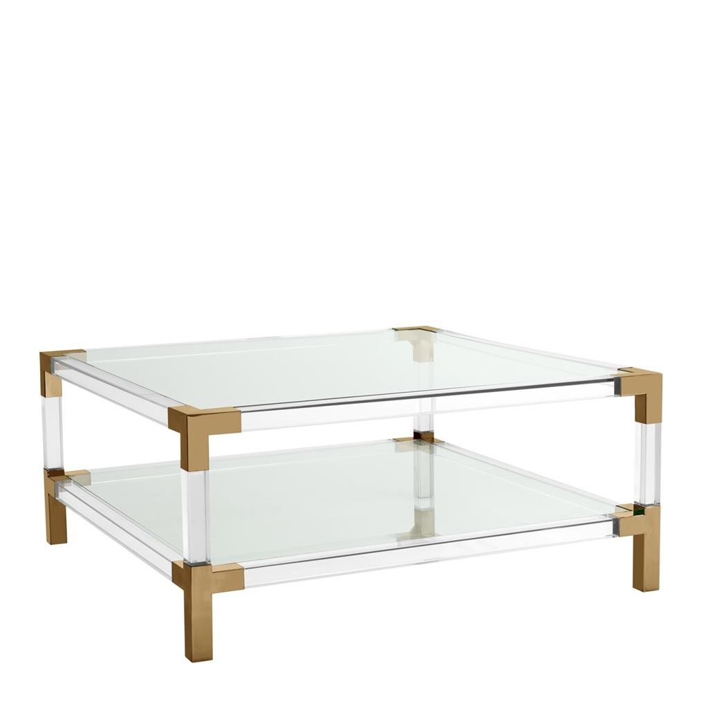 Shop Now Regarding Acrylic & Brushed Brass Coffee Tables (Gallery 1 of 20)