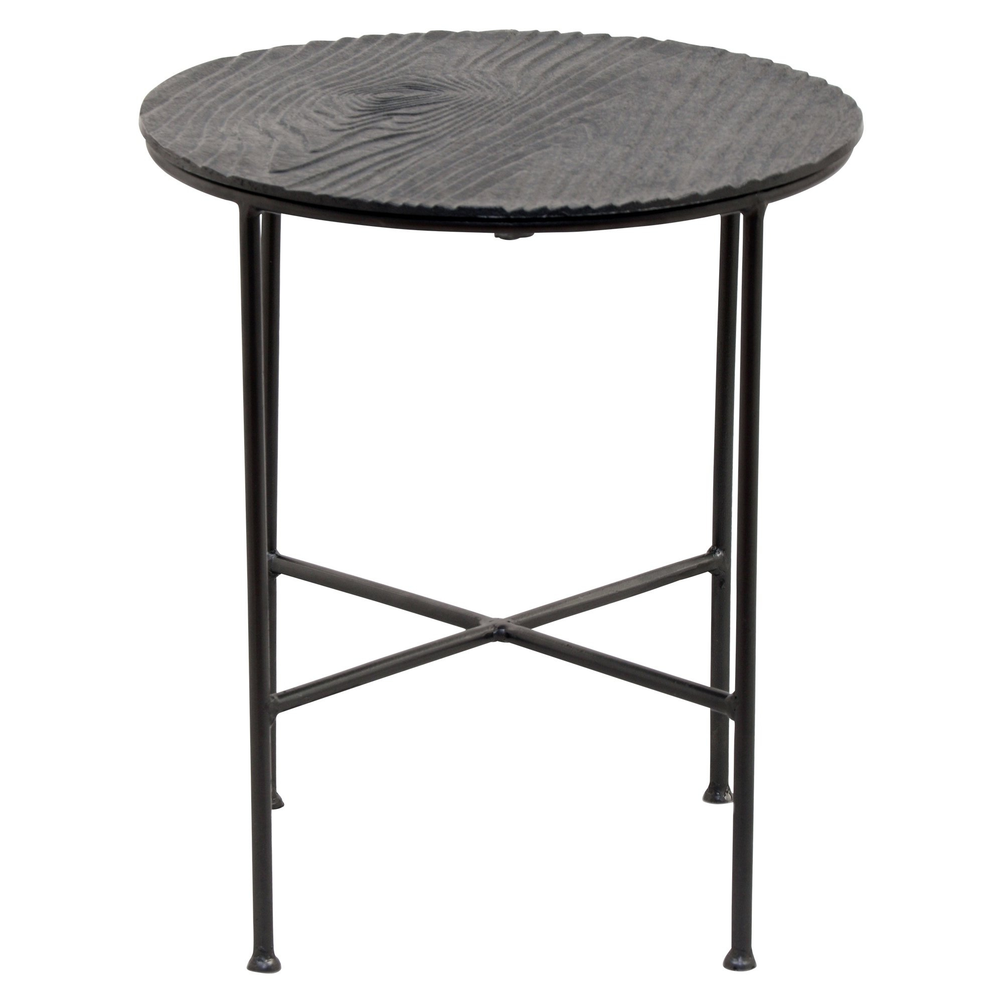 Shop Renwil Bale Grey Aluminum Round Accent Table – Free Shipping In Popular Bale Rustic Grey Round Cocktail Tables With Storage (View 7 of 20)