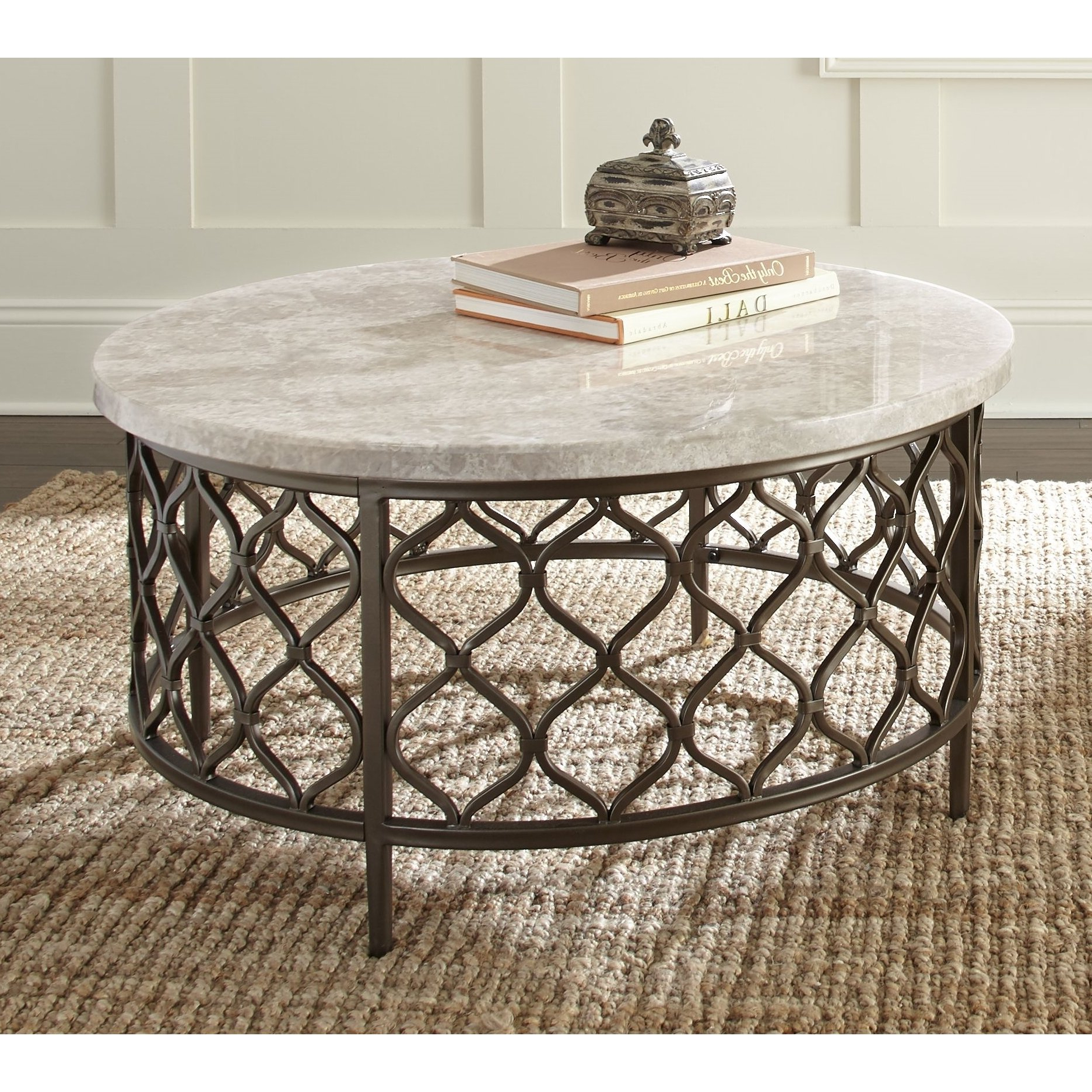 Shop Rockvale Stone Top Round Coffee Tablegreyson Living – On In Favorite Stone Top Coffee Tables (View 13 of 20)