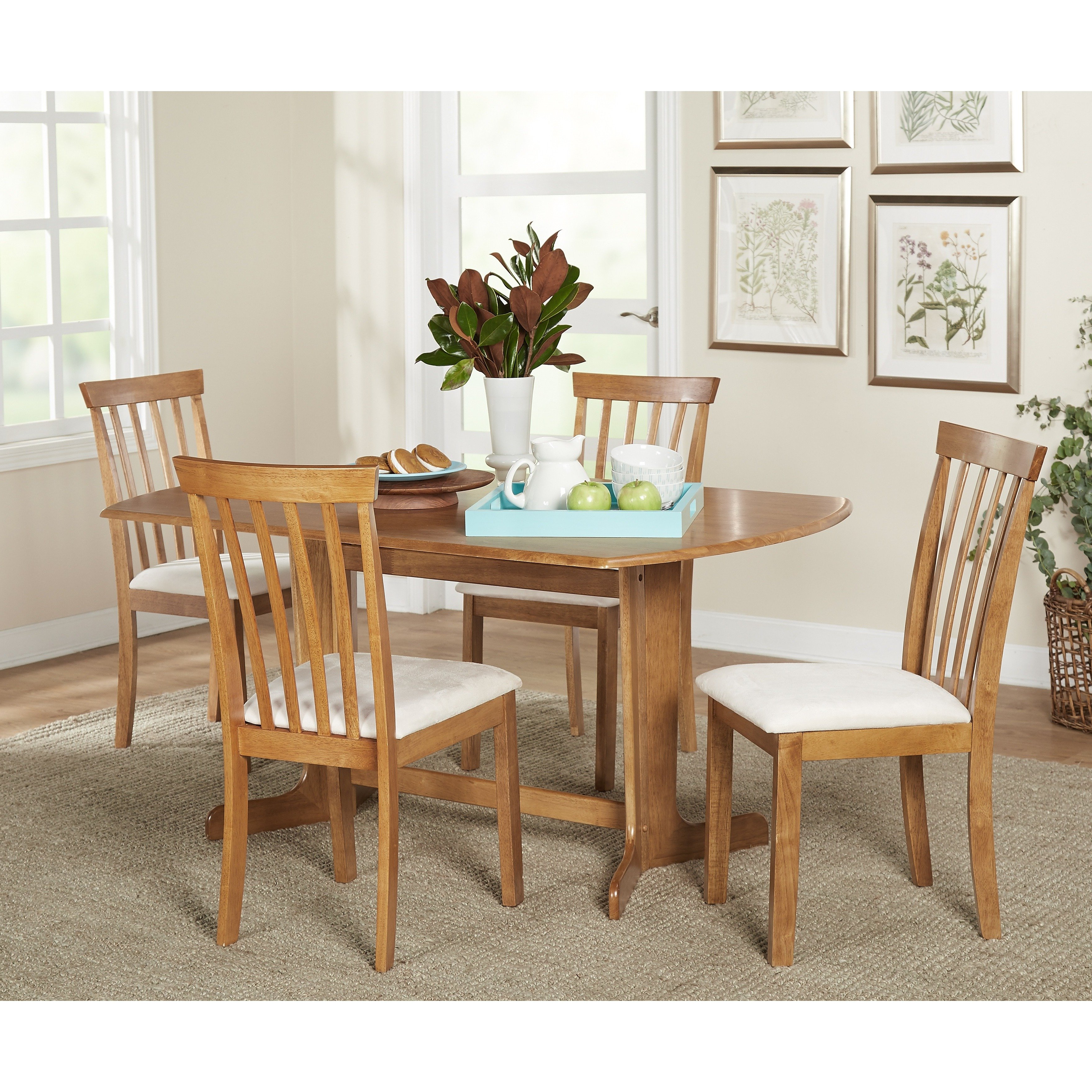 Shop Simple Living 5Pc Benton Dining Set – On Sale – Free Shipping Regarding Most Current Benton 4 Piece Sectionals (Gallery 20 of 20)
