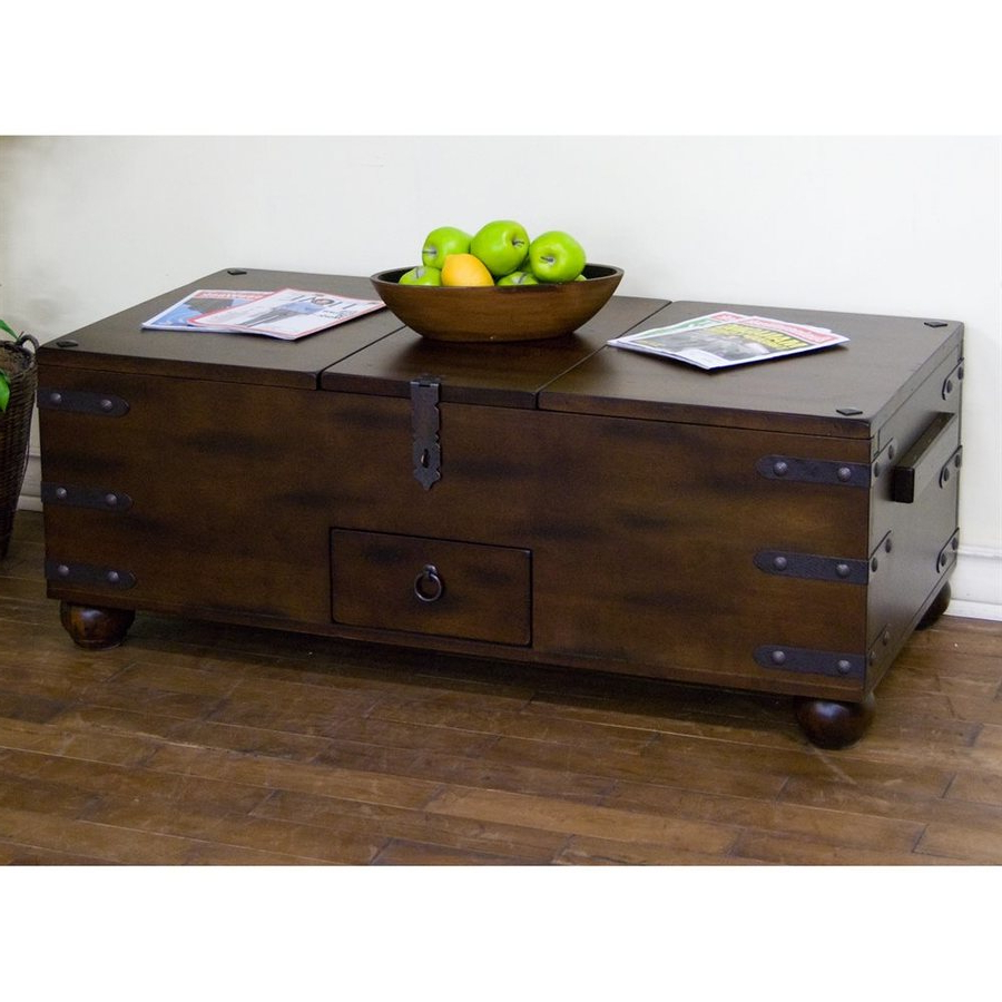 Shop Sunny Designs Santa Fe Dark Chocolate Coffee Table At Lowes With Regard To 2018 Santa Fe Coffee Tables (View 3 of 20)