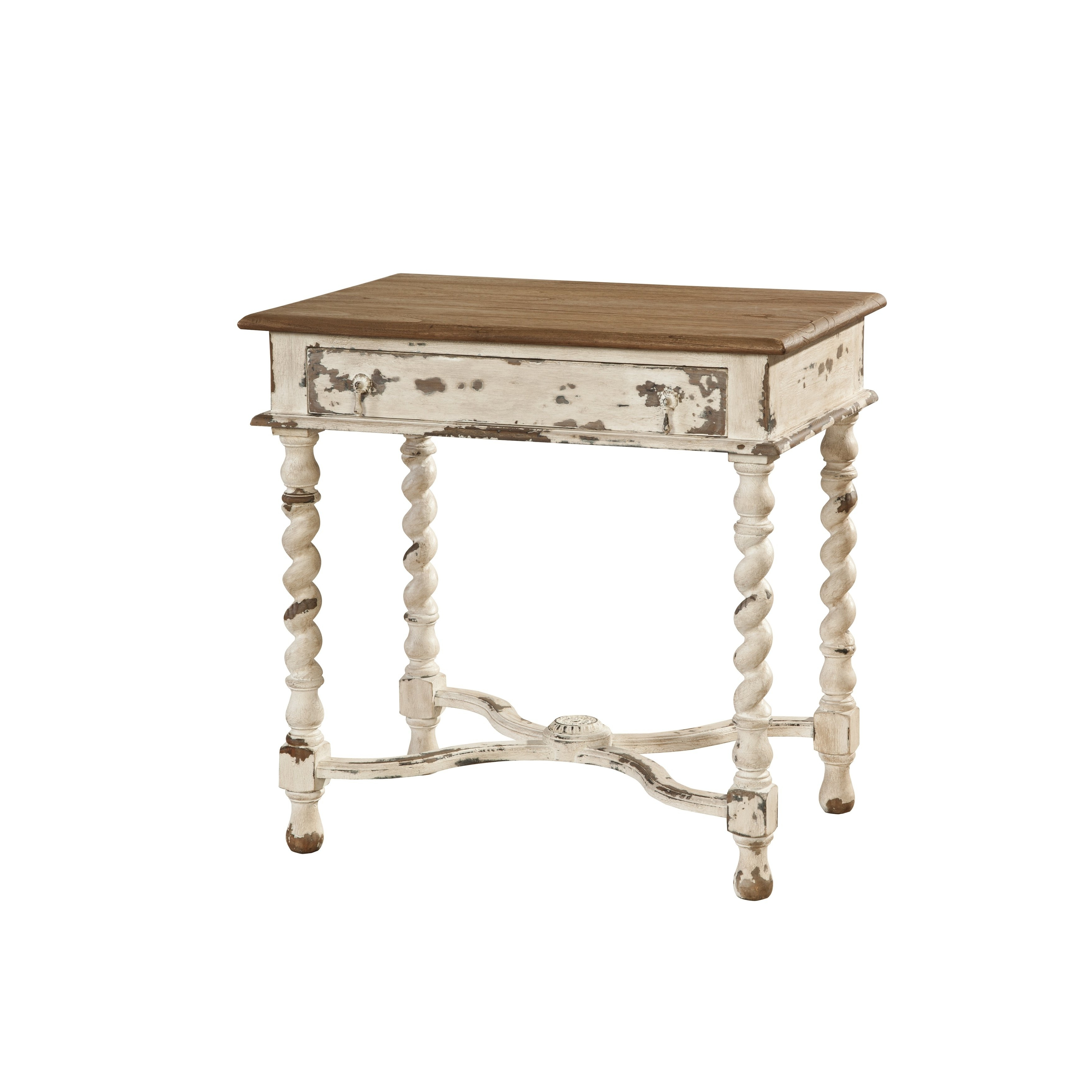 Shop Terrence Wood Side Table With Barley Twist Legs – Free Shipping For Trendy Barley Twist Coffee Tables (View 12 of 20)