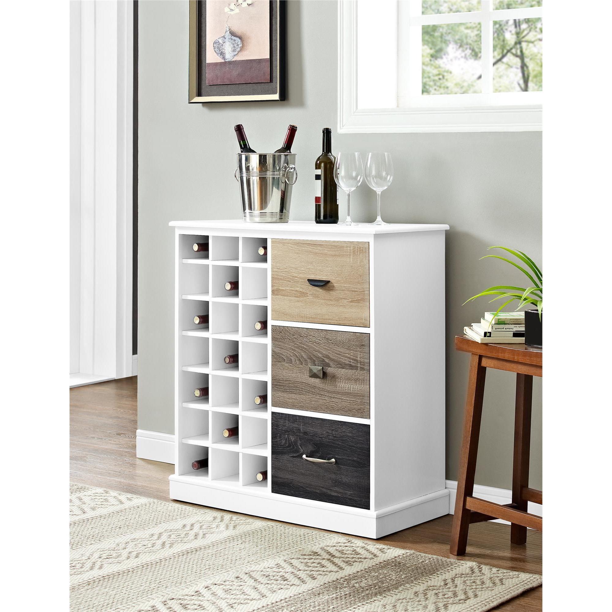 Shop The Gray Barn Latigo White Wine Cabinet With Multicolor Door Throughout Favorite Rani 4 Door Sideboards (View 19 of 20)