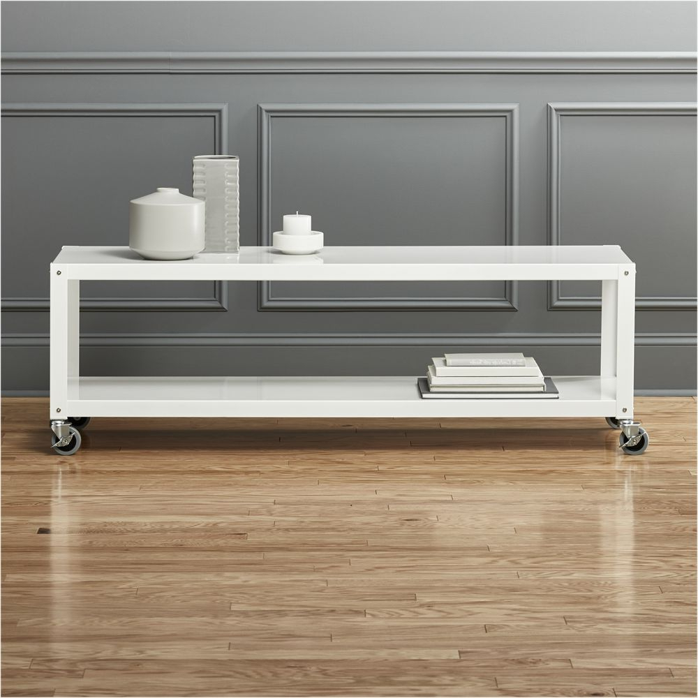 Shop The Look Products Intended For Widely Used Go Cart White Rolling Coffee Tables (View 4 of 20)