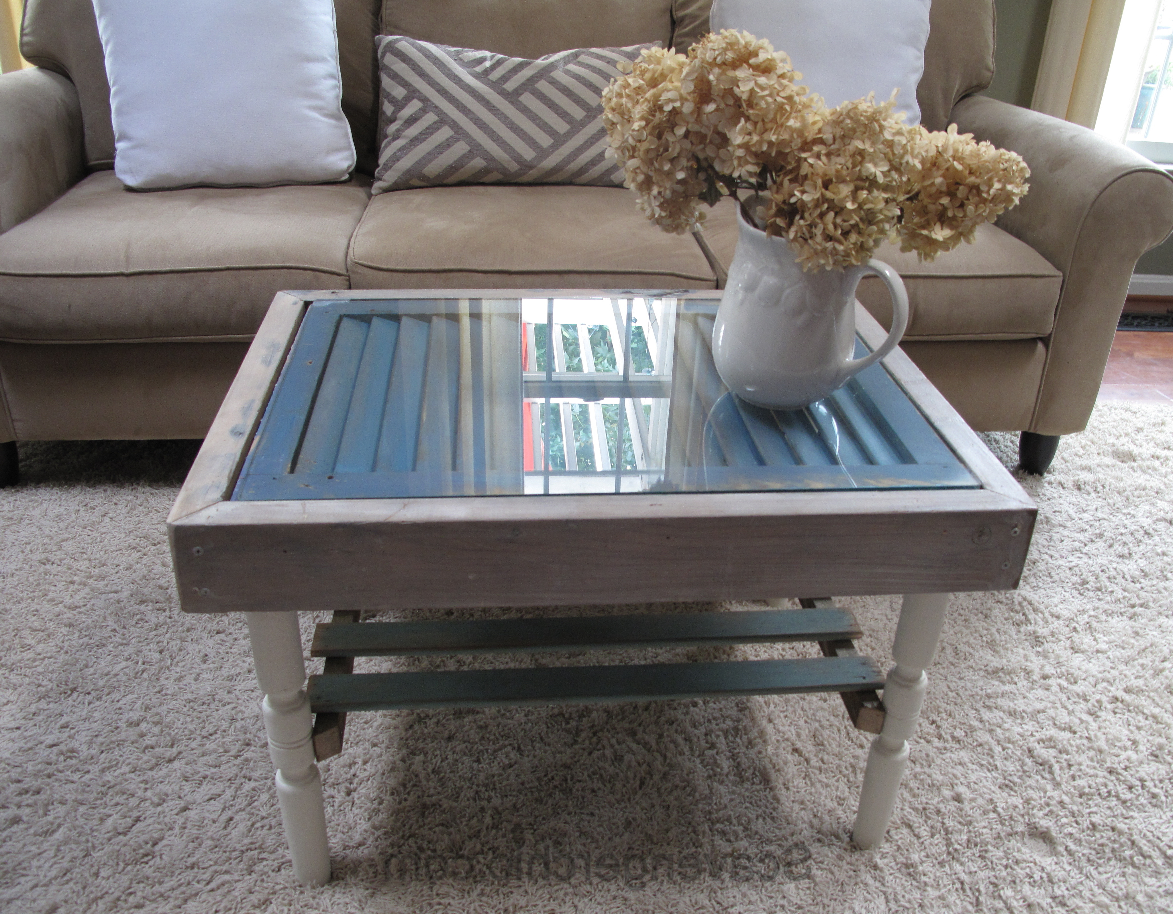 Shutter And Slats Coffee Table – Scavenger Chic Regarding Favorite Natural 2 Drawer Shutter Coffee Tables (View 19 of 20)