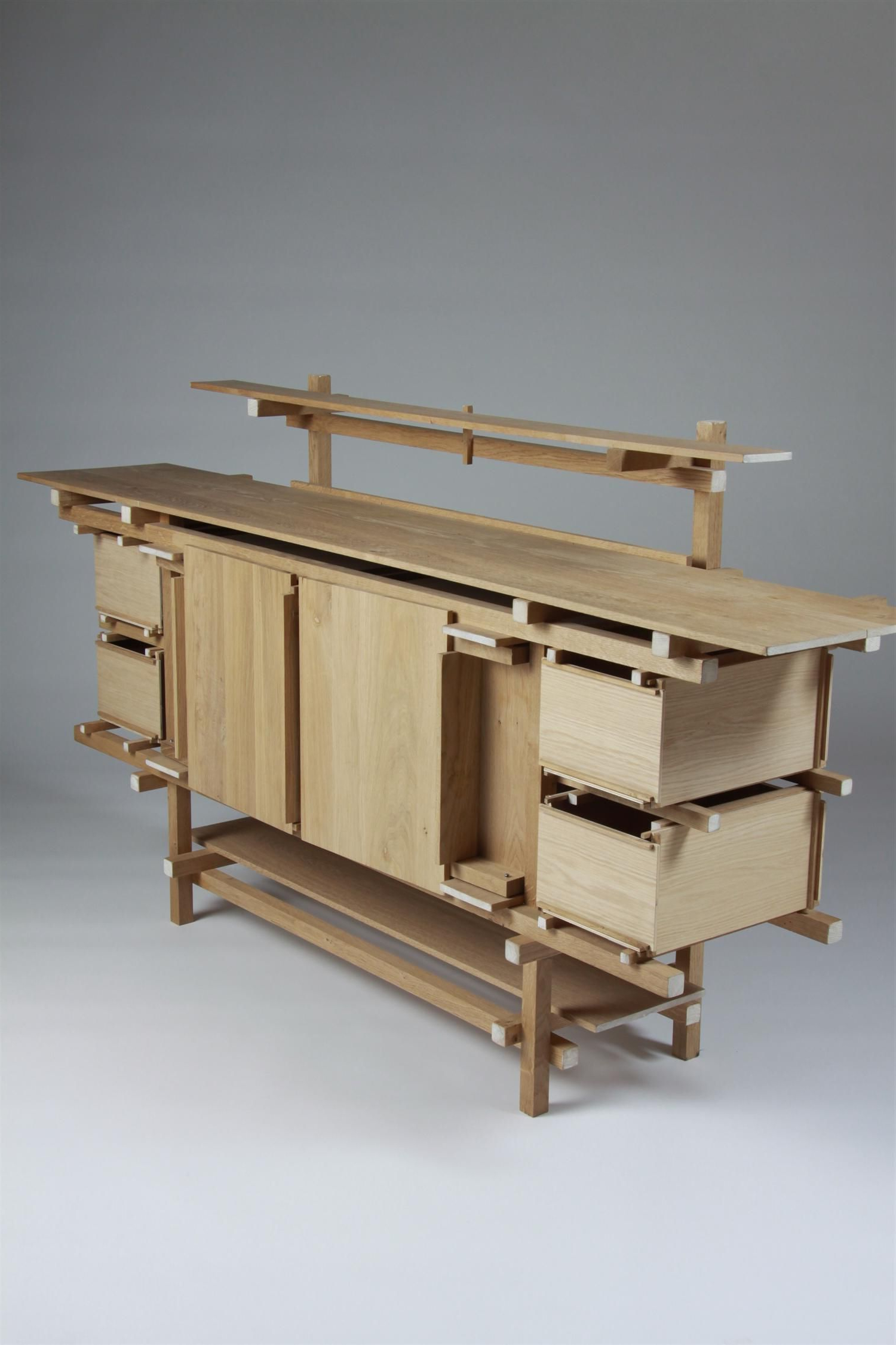 Sideboard, Elling. Designedgerrit Rietveld, Holland. 1919 In Best And Newest Burnt Tannin 4 Door Sideboards (Gallery 12 of 20)