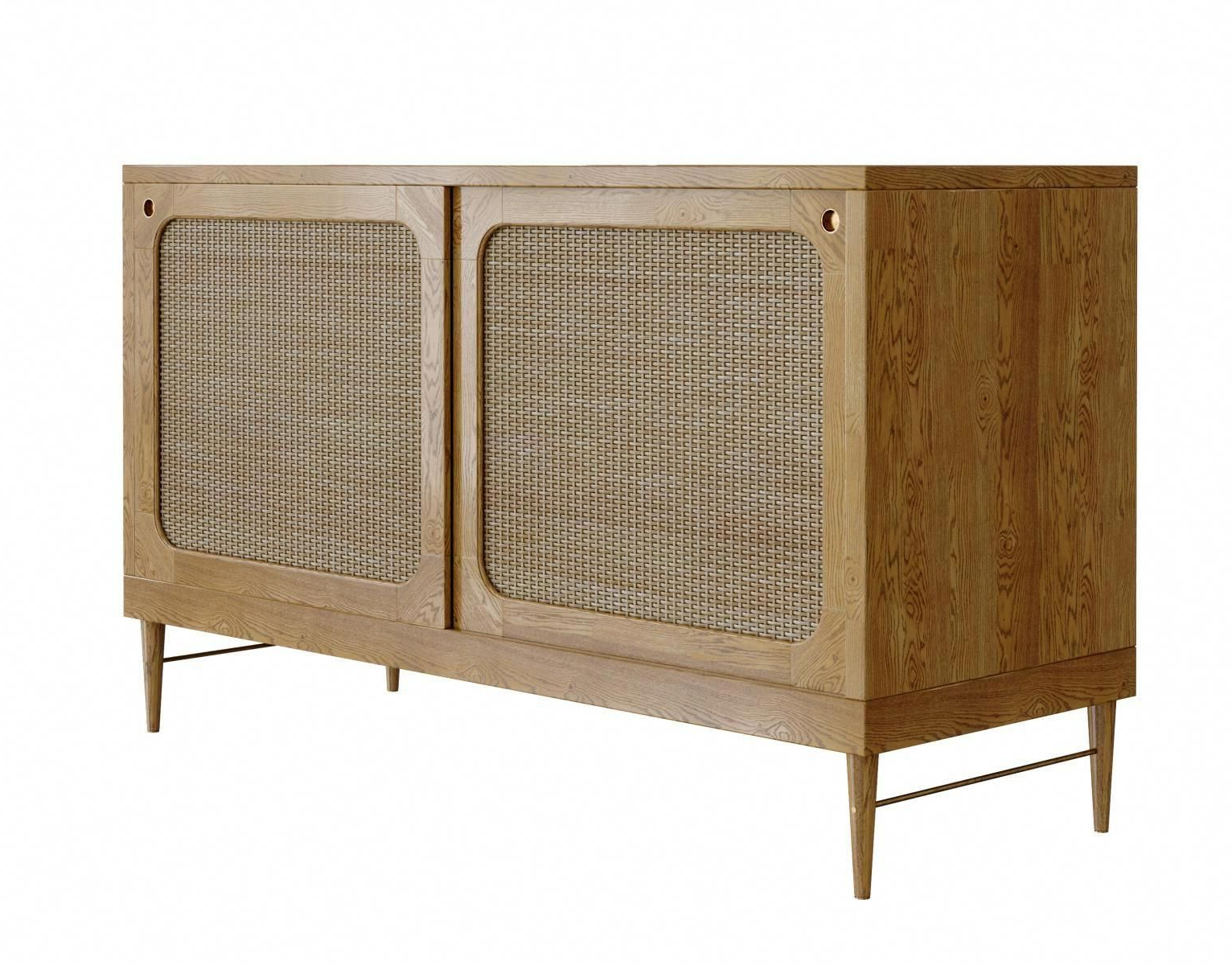 Sideboard In Natural Oak And Rattanlind + Almond For Jönsson For 2019 Corrugated Natural 6 Door Sideboards (Gallery 12 of 20)