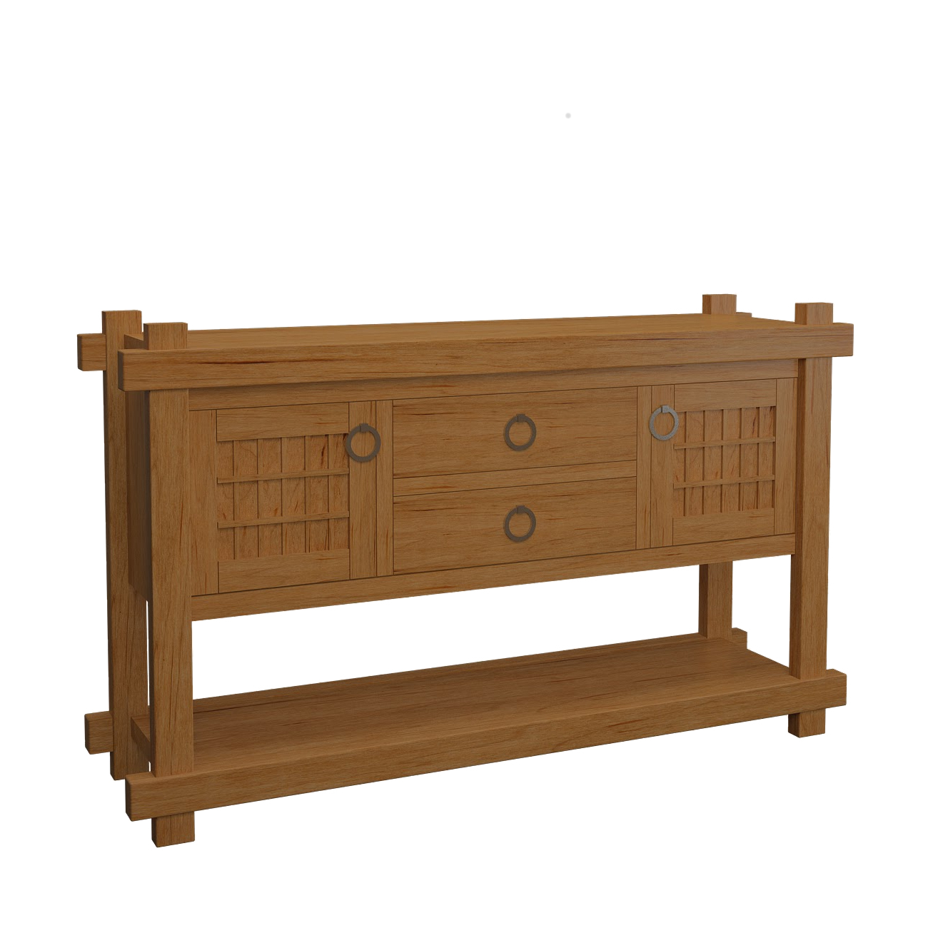 Sideboard In The Tansu Style (Gallery 4 of 20)