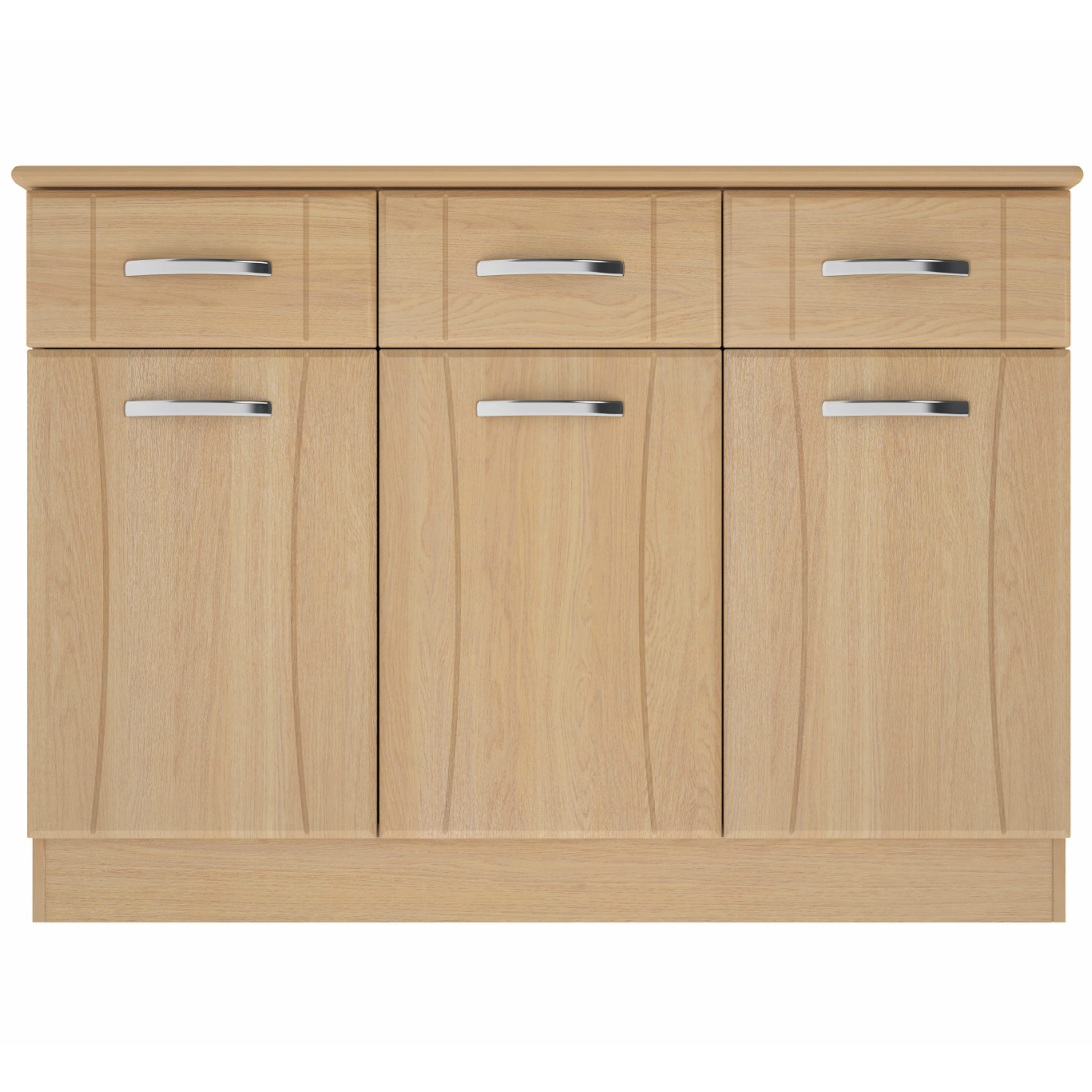 Sideboards – Furncare Inside Widely Used Walnut Finish 2 Door/3 Drawer Sideboards (Gallery 12 of 20)