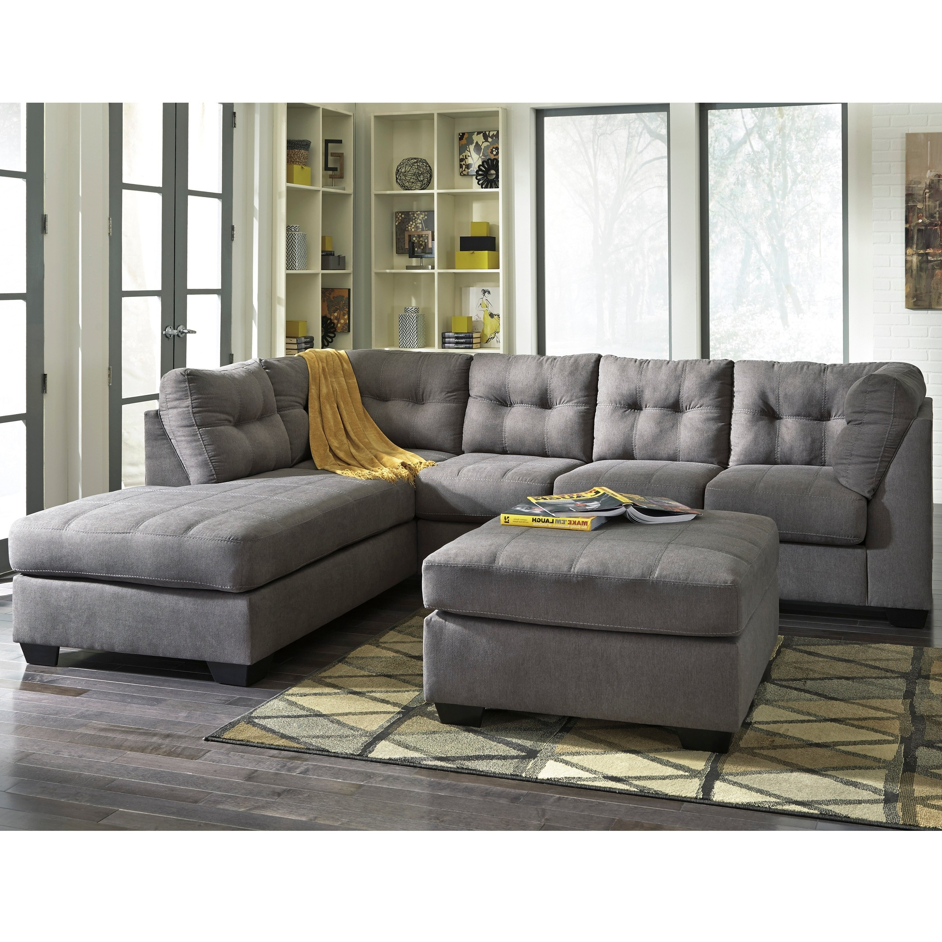 Sierra Down 3 Piece Sectionals With Laf Chaise Within Fashionable Shop Benchcraft Maier Microfiber Sectional Sofa With Right Side (View 17 of 20)