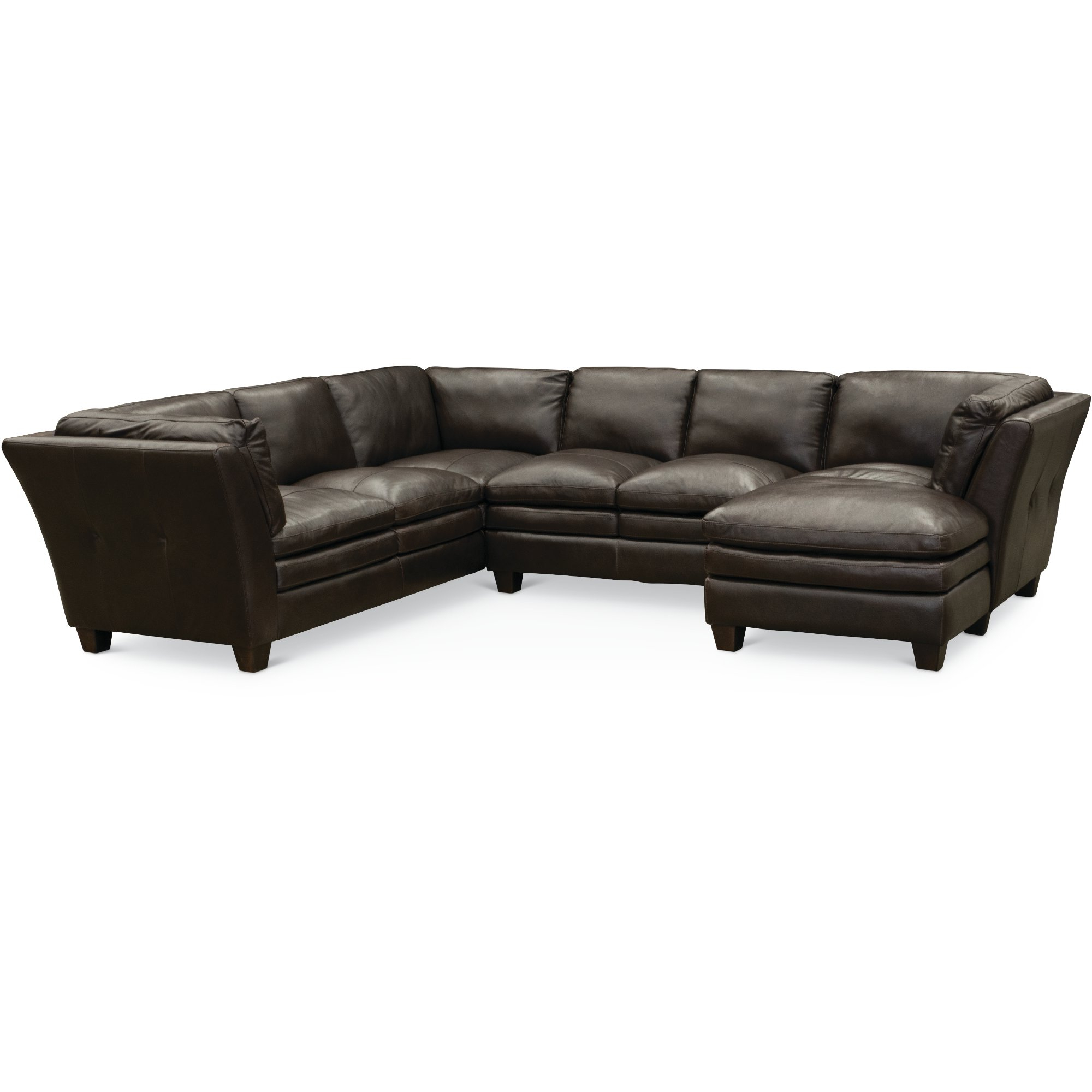 Sierra Foam Ii 3 Piece Sectionals With Regard To Latest Contemporary Dark Brown Leather 3 Piece Sectional Sofa – Capri (View 16 of 20)