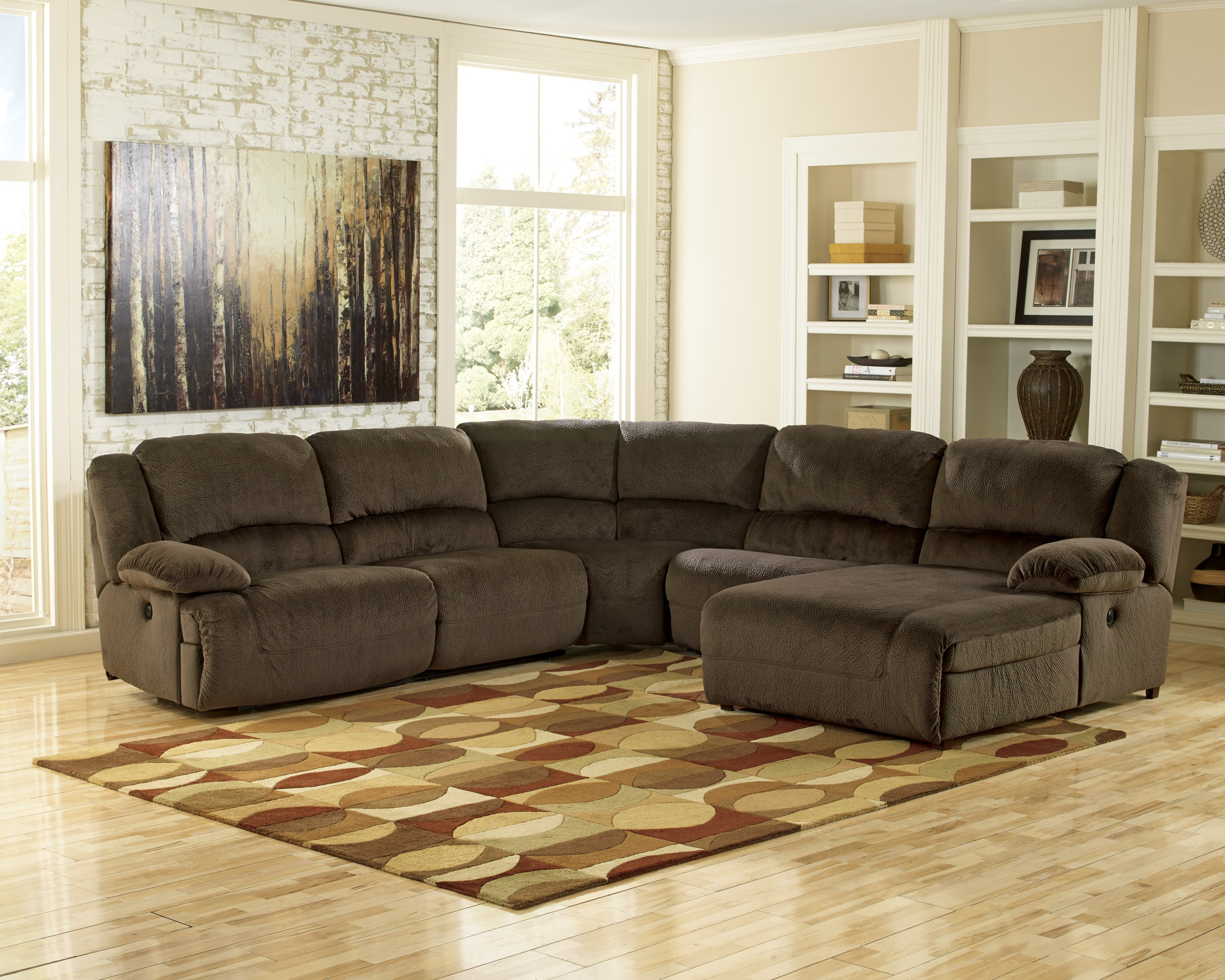 Signature Designashley Toletta Left Arm Facing Sectional Inside Most Up To Date Tess 2 Piece Power Reclining Sectionals With Laf Chaise (Gallery 17 of 20)