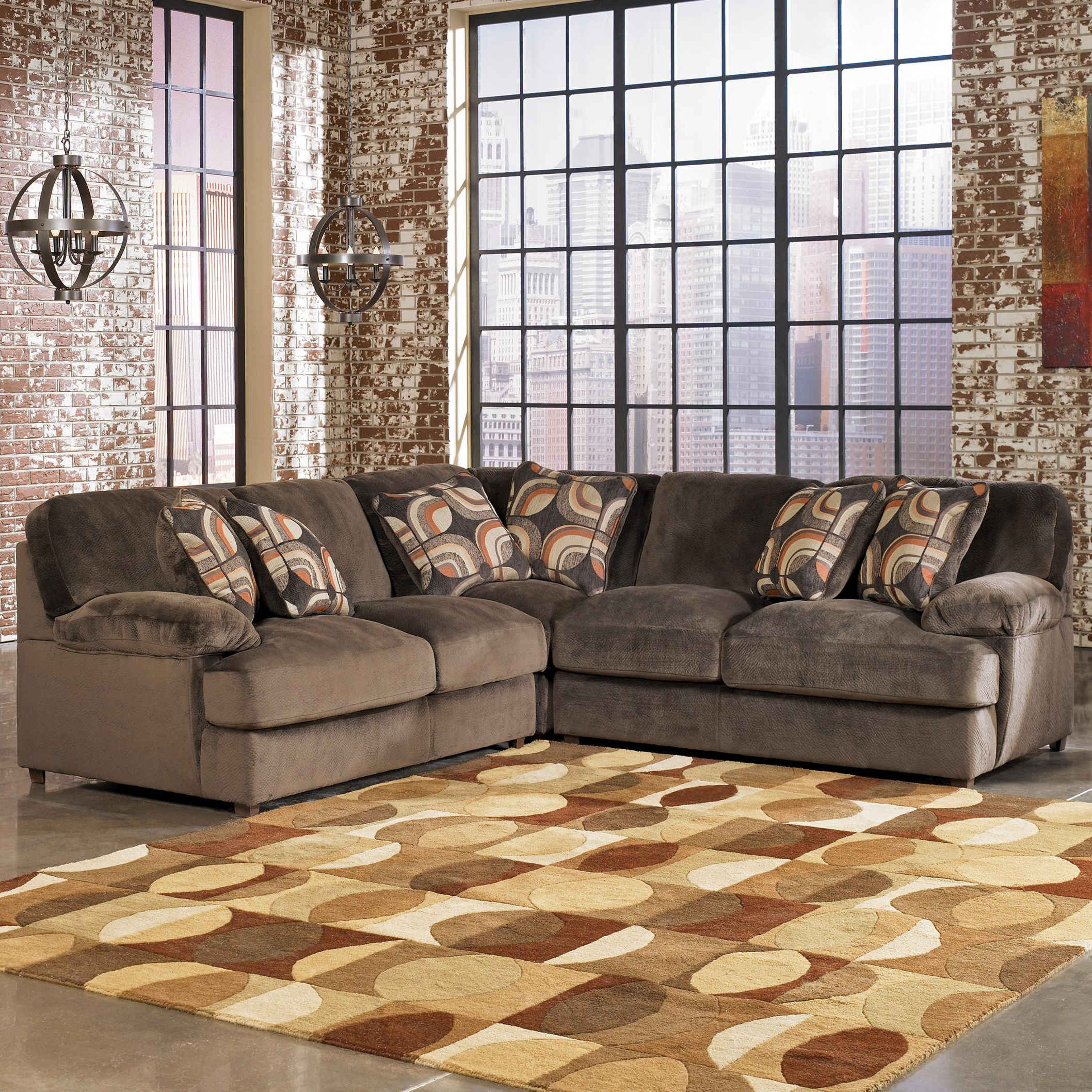 Signature Designashley Truscotti – Cafe Contemporary 3 Piece Pertaining To Most Up To Date Blaine 3 Piece Sectionals (View 15 of 20)