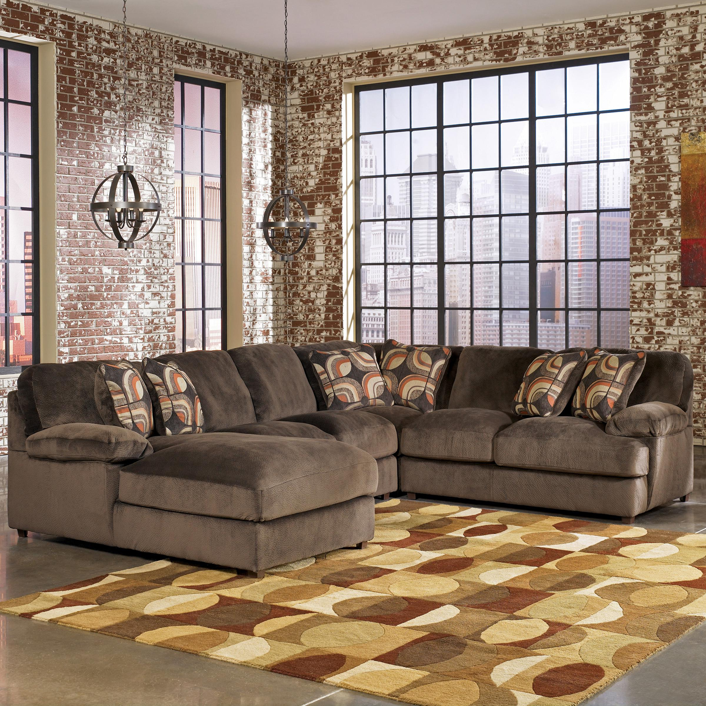 Signature Designashley Truscotti – Cafe Contemporary 4 Piece In Famous Blaine 4 Piece Sectionals (View 3 of 20)