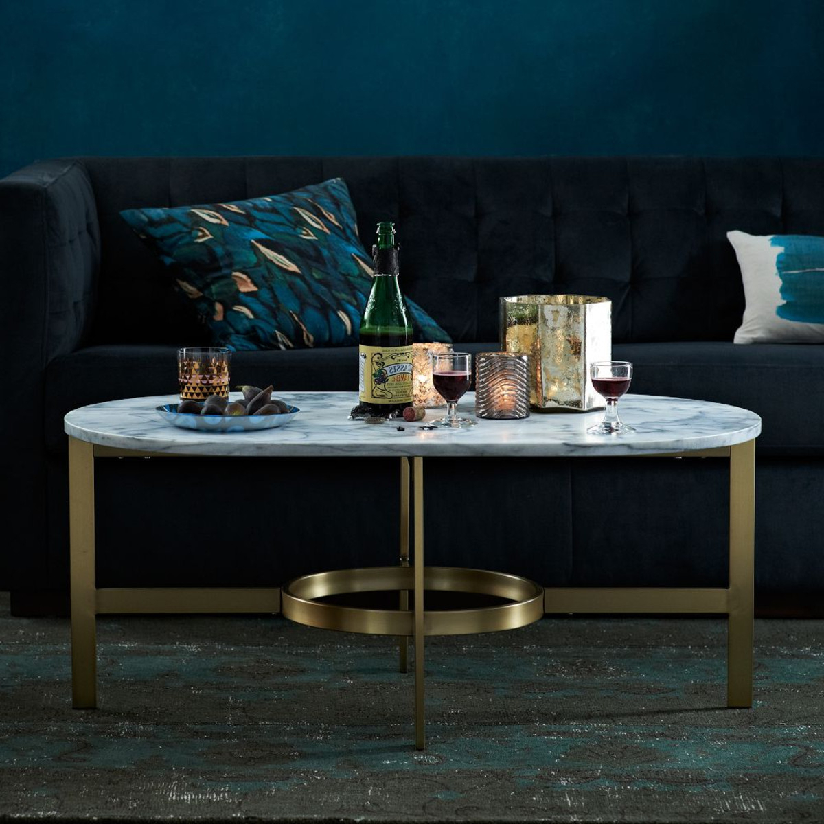 Slab Large Marble Coffee Tables With Brass Base Regarding Newest Save Or Splurge: Brass And Glass Coffee Tables (View 7 of 20)