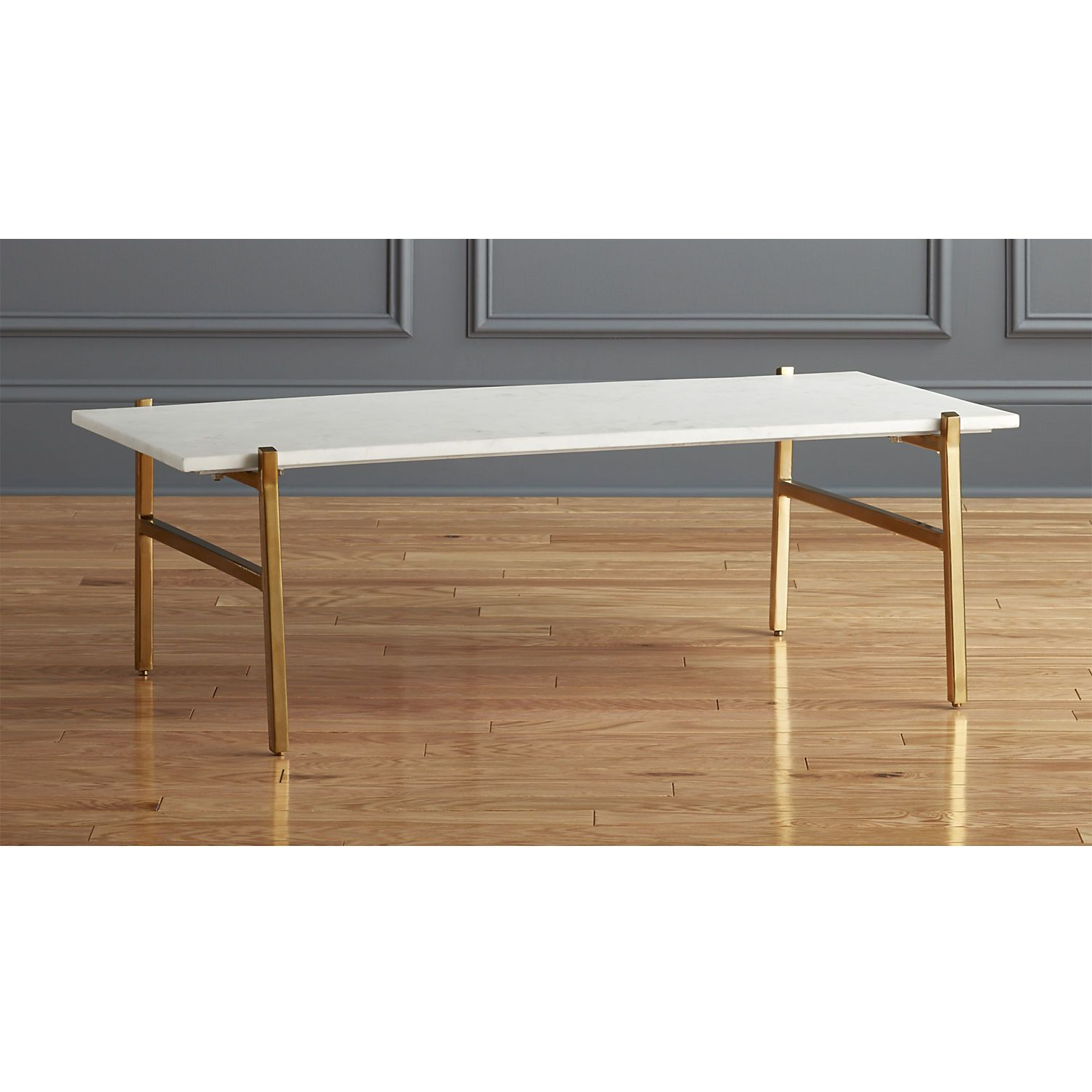 Slab Small Marble Coffee Table With Brass Base (View 6 of 20)