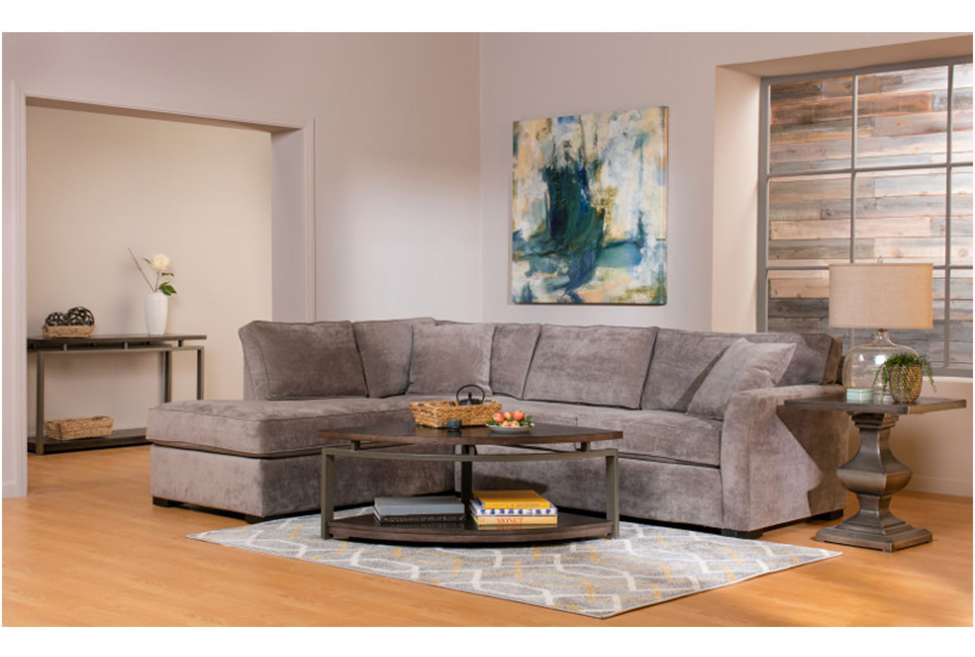 Sleeper Sectional With Preferred Aspen 2 Piece Sectionals With Laf Chaise (View 4 of 20)