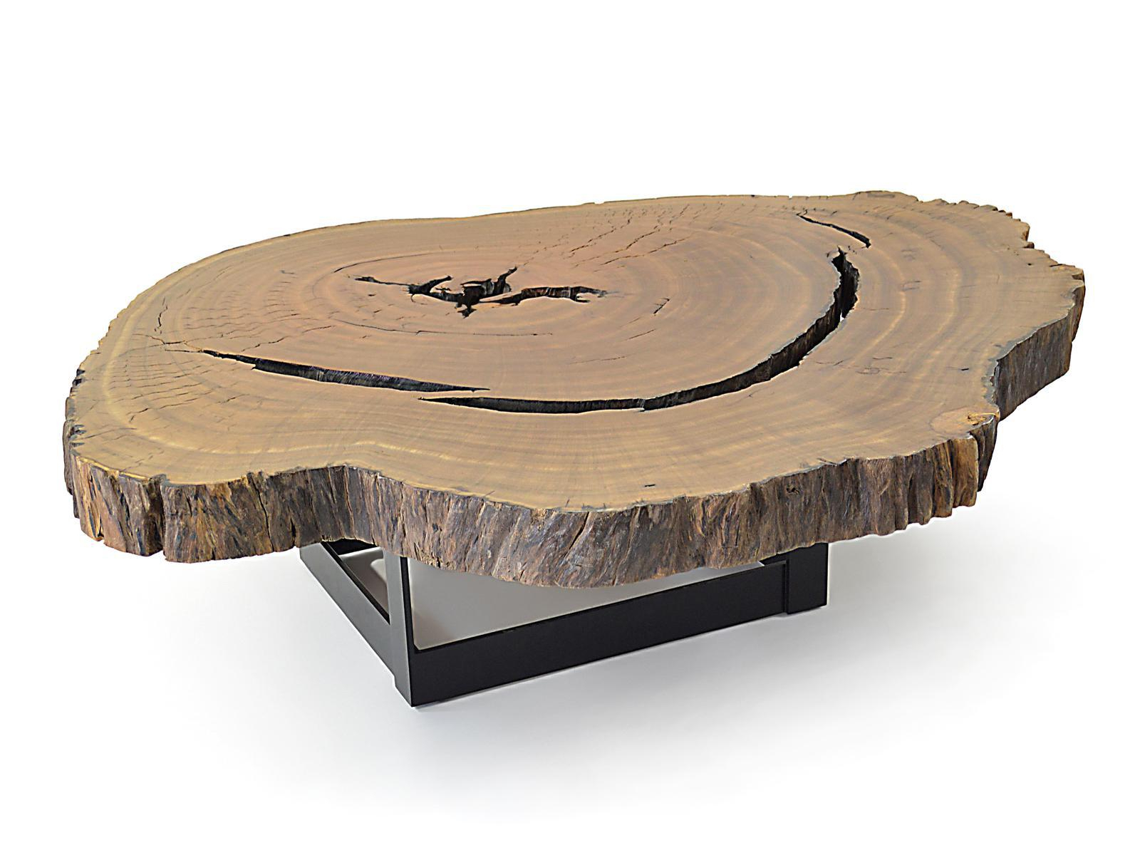 Sliced Trunk Coffee Tables Intended For Most Recently Released Bahia Pequi Slice Coffee Table – Metal Base – Stock 01Rotsen (Gallery 16 of 20)