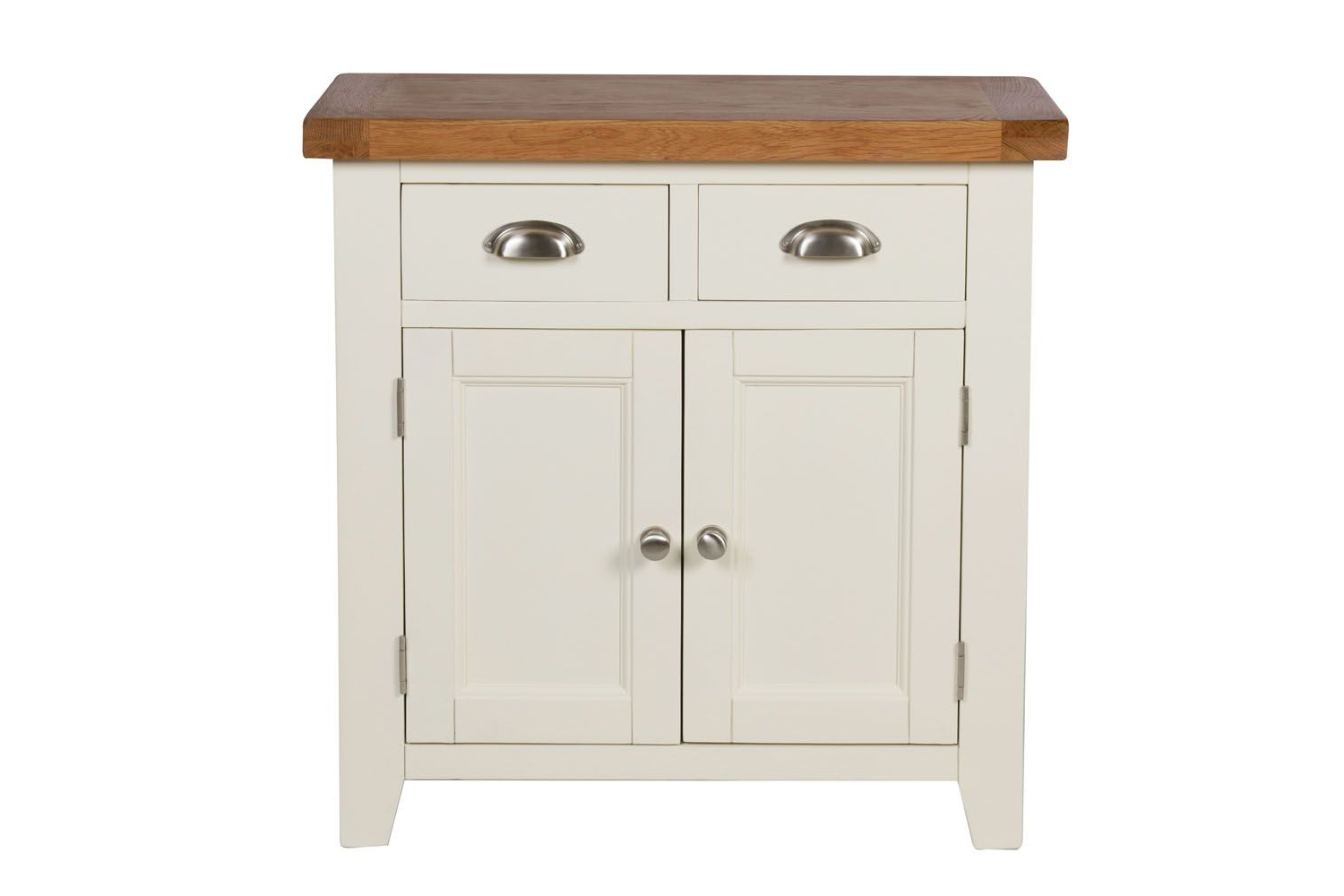 Small Cream Painted Oak Sideboard (Gallery 6 of 20)
