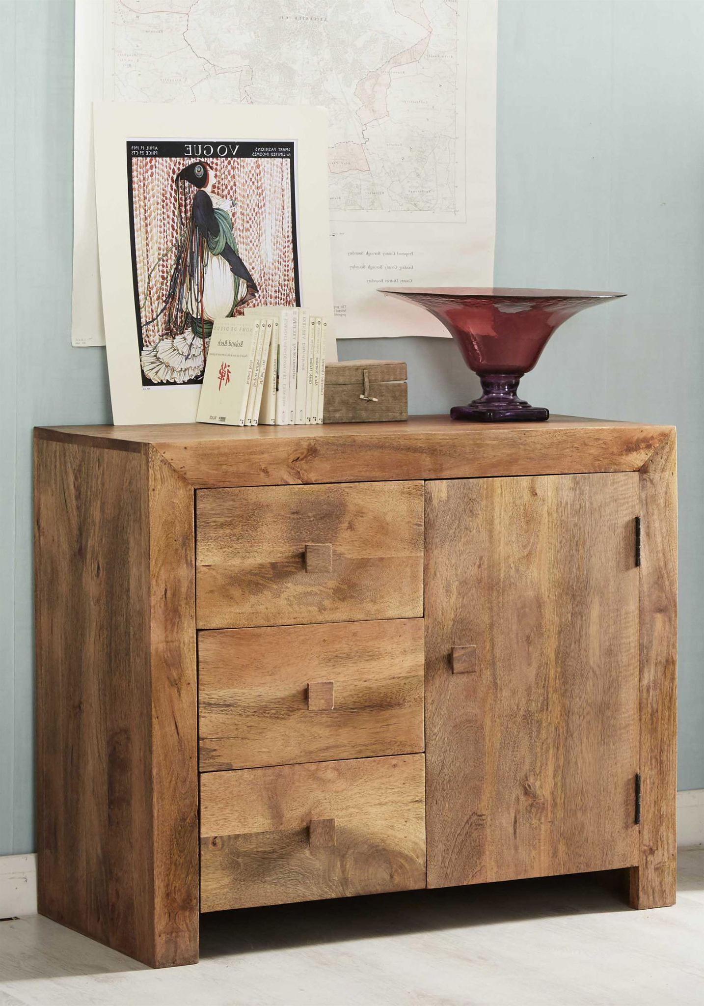Small Light Mango Wood Sideboard – Toko Mango Throughout Newest Natural Mango Wood Finish Sideboards (Gallery 3 of 20)