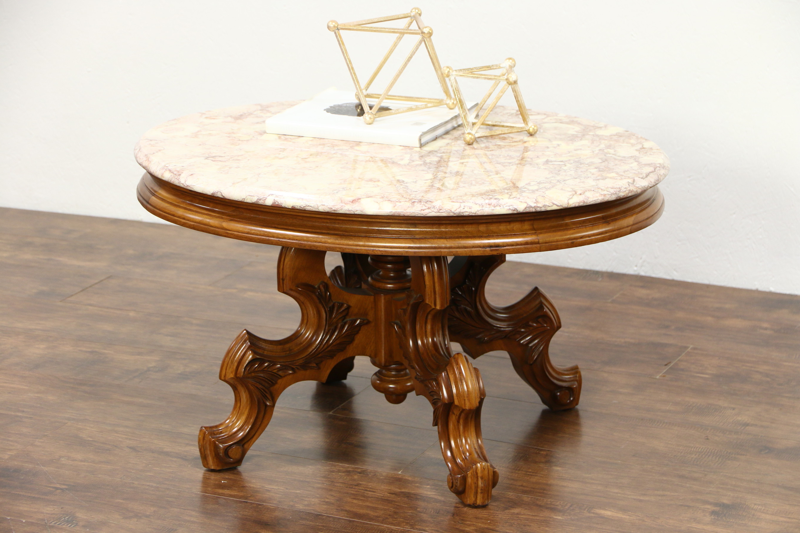 Smart Large Round Marble Top Coffee Tables Throughout Newest Probably Super Real Victorian End Table With Marble Top Gallery (View 17 of 20)