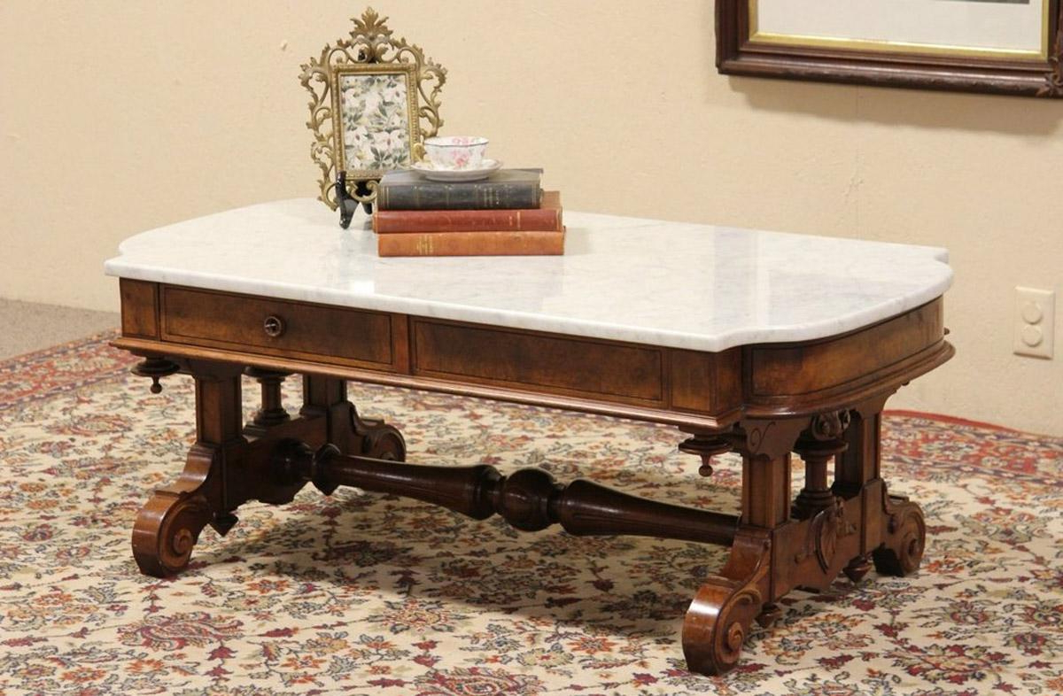Smart Round Marble Brass Coffee Tables Throughout Well Known Coffee Table: Incredible Modern Marble Top Coffee Table Marble (Gallery 12 of 20)