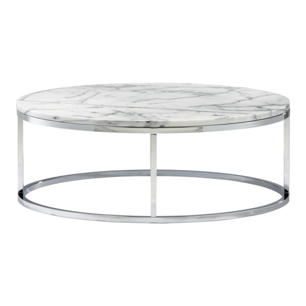 Smart Round Marble Top Coffee Tables Regarding Newest Greatest Price On One Of The Chic Est Modern Tables Evah! (View 6 of 20)