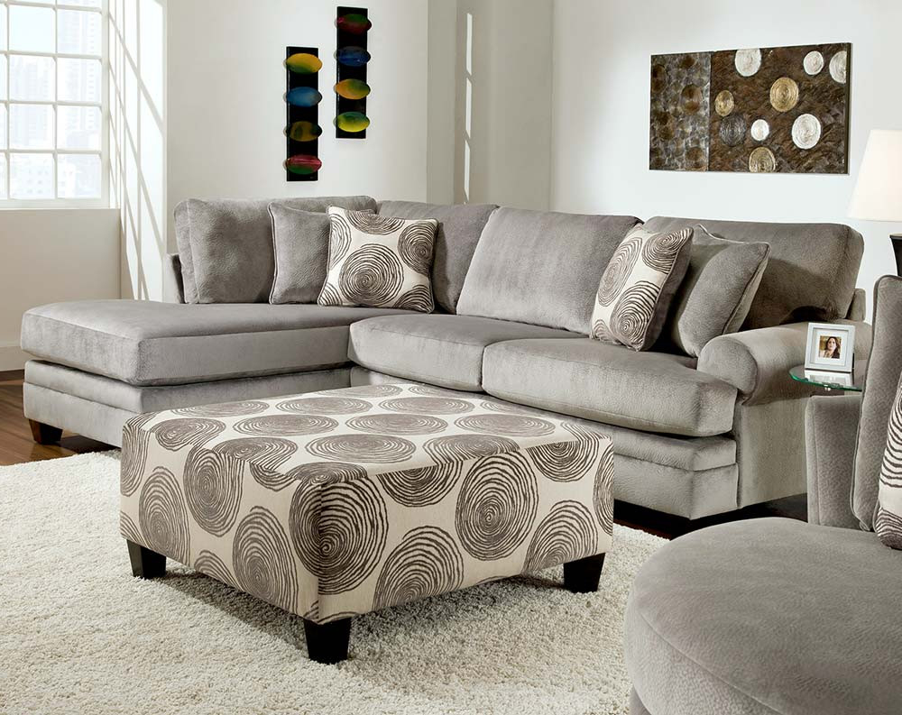Smoke Gray 2 Piece Microfiber Sectional Sofa (View 20 of 20)