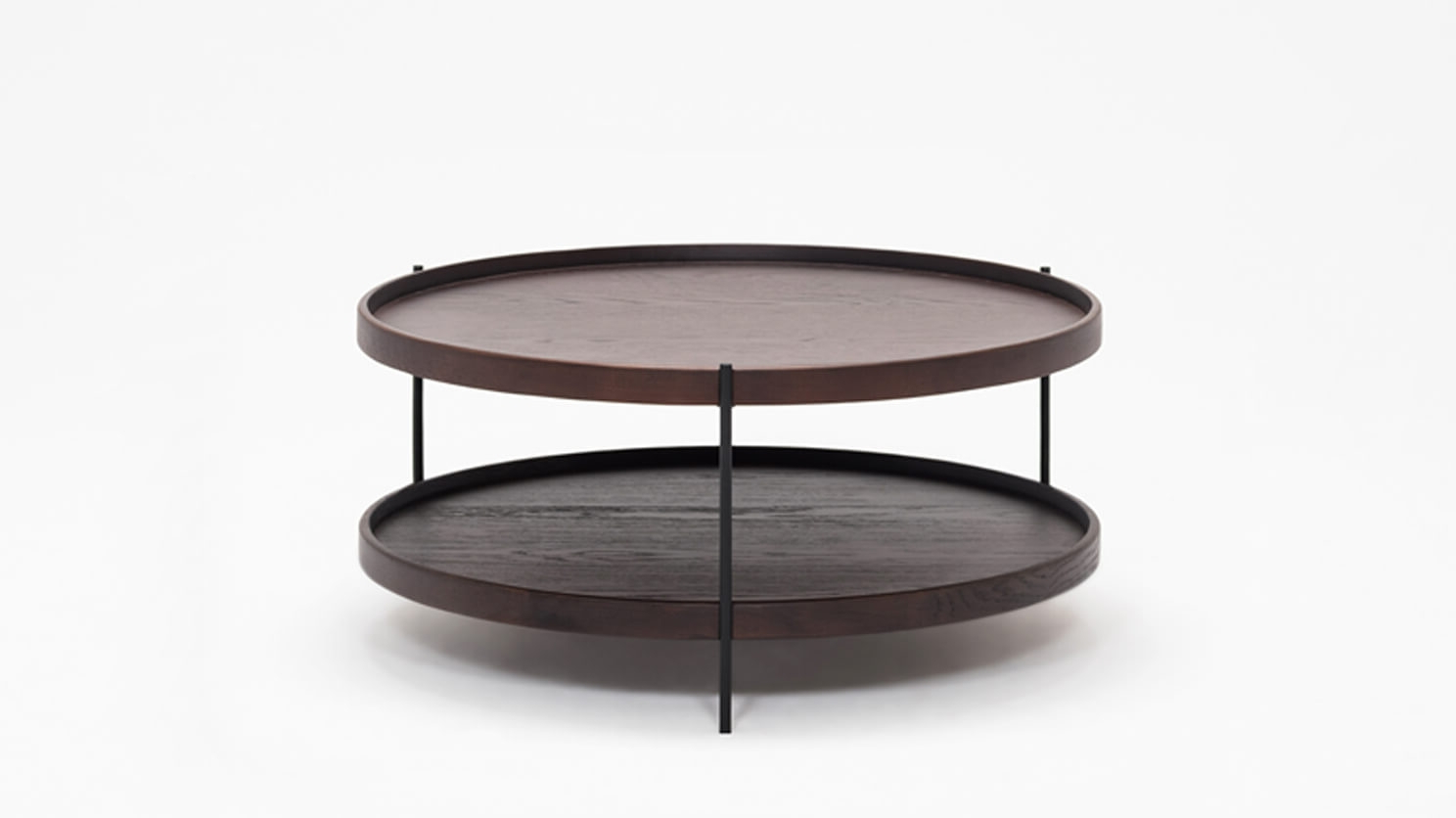 Smoked Oak Coffee Tables Regarding Newest Sage Round Coffee Table – Smoked Oak (View 3 of 20)