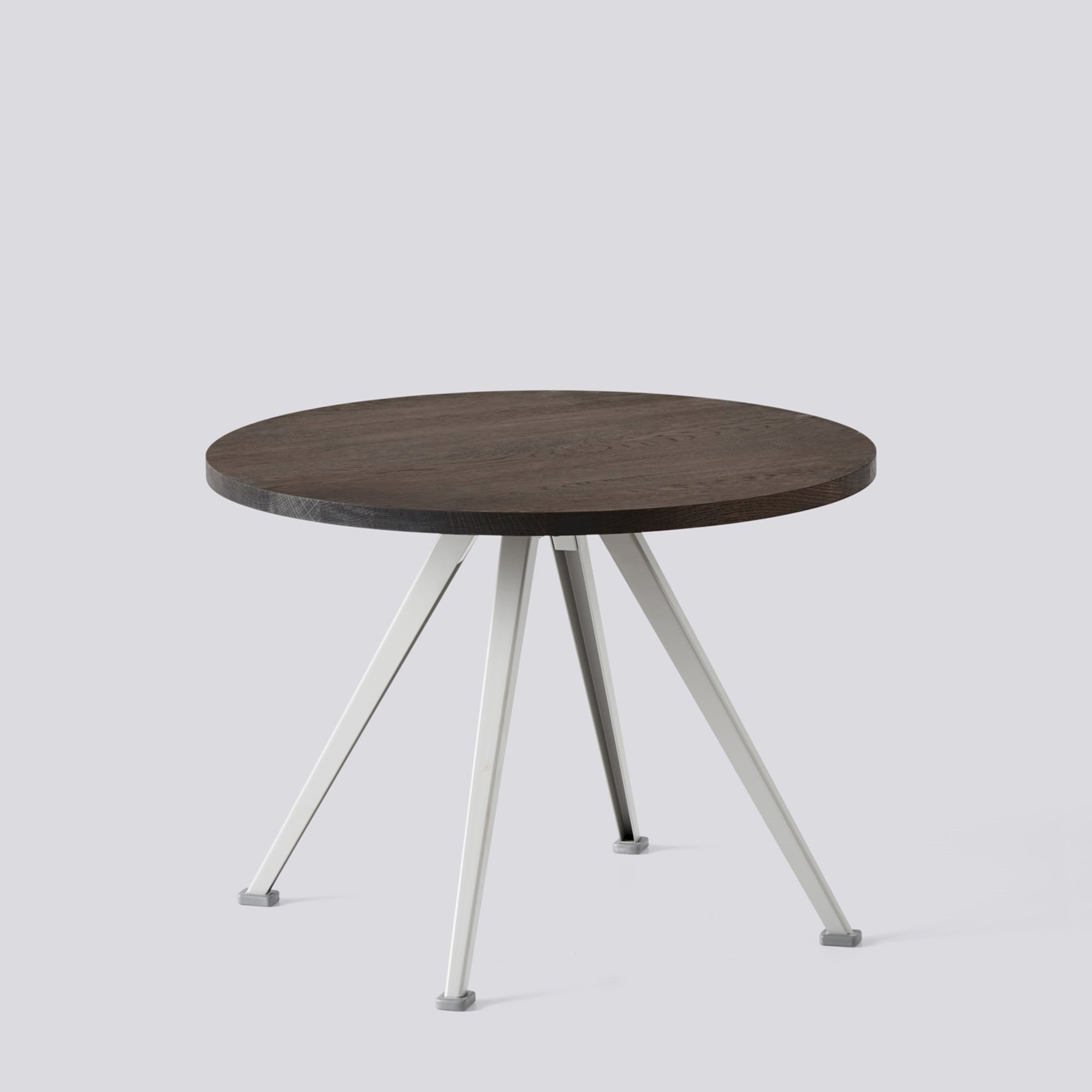 Smoked Oak Coffee Tables Within Fashionable Pyramid Coffee Table 51 Beige Frame Ø60 X H44 Smoked Oak – Hay (View 17 of 20)