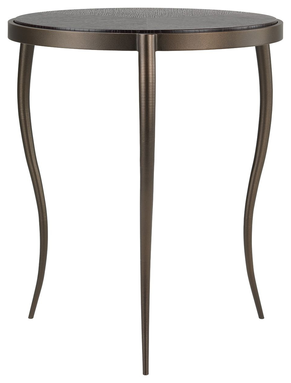 Smoked Oak Side Tables For Most Recent Brinkley Side Table In Textured Bronze With A Dark Smoked Oak Top (View 7 of 20)